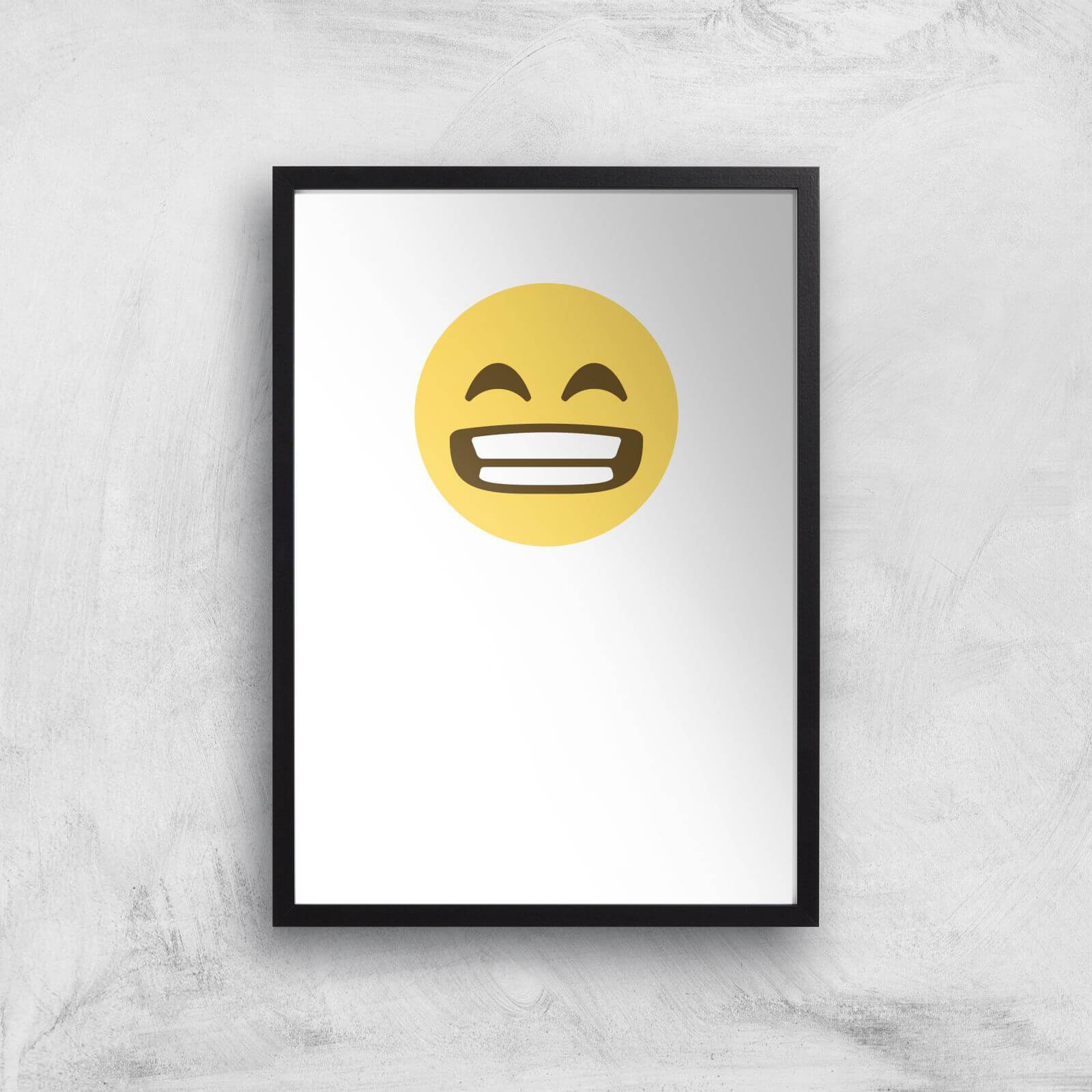 By IWOOT Wide Grin Face Art Print - A2 - White Frame