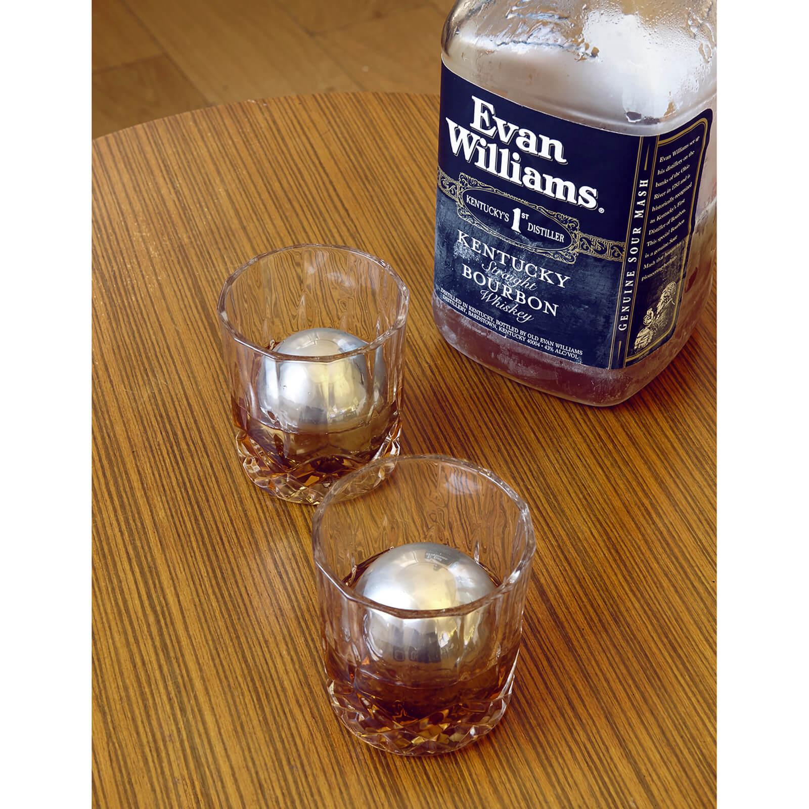 Kikkerland Stainless Steel Whiskey Balls-male