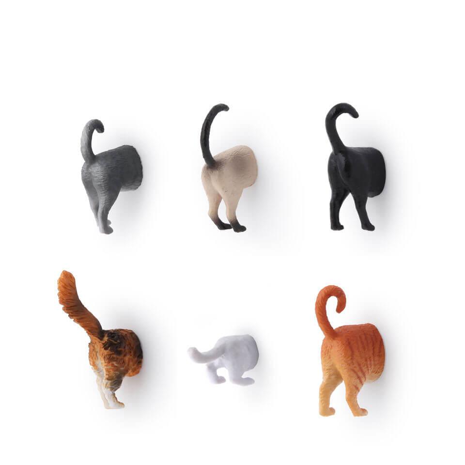 Kikkerland Cat Butt Magnets-female