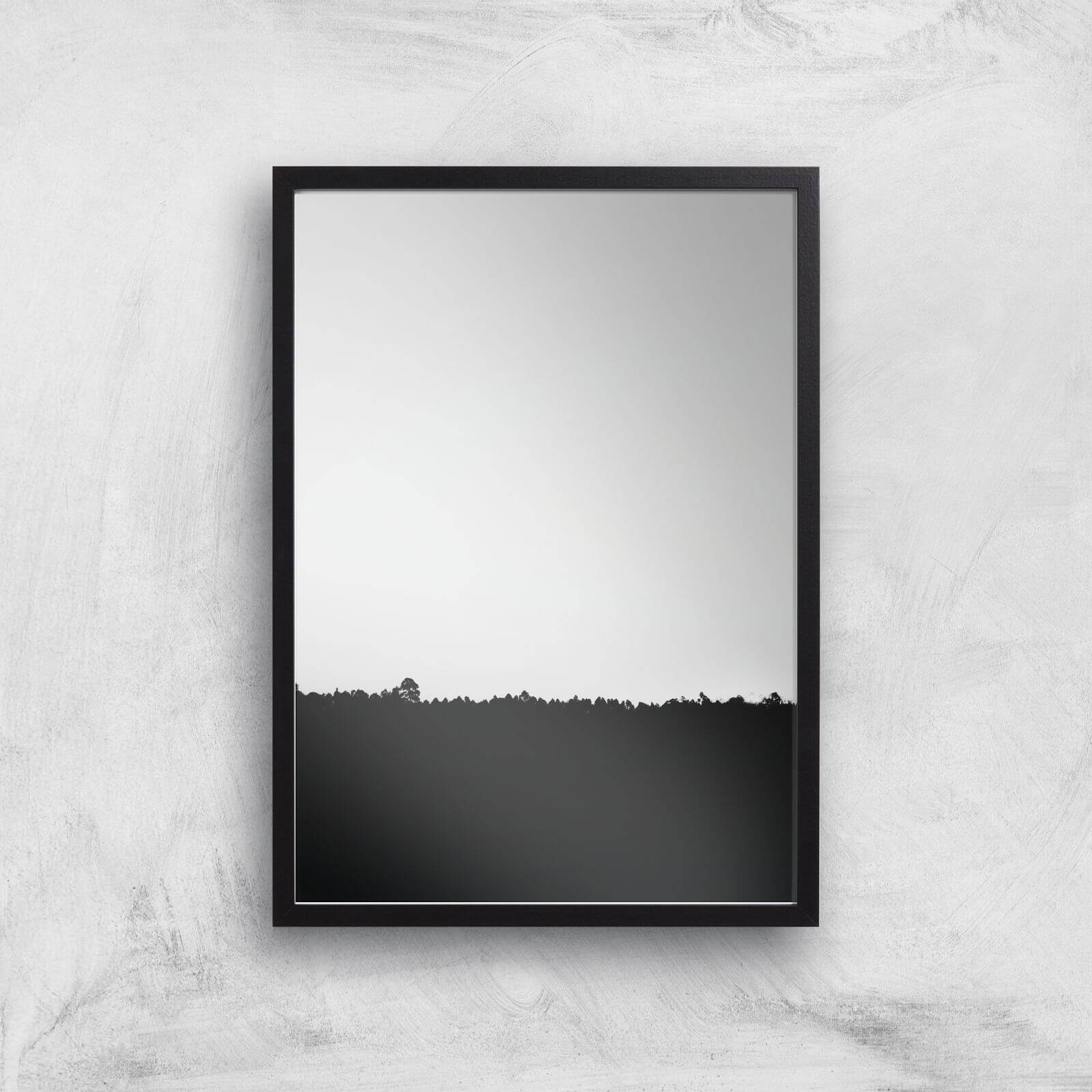 By IWOOT Minimal Ground Giclee Art Print - A2 - Black Frame-