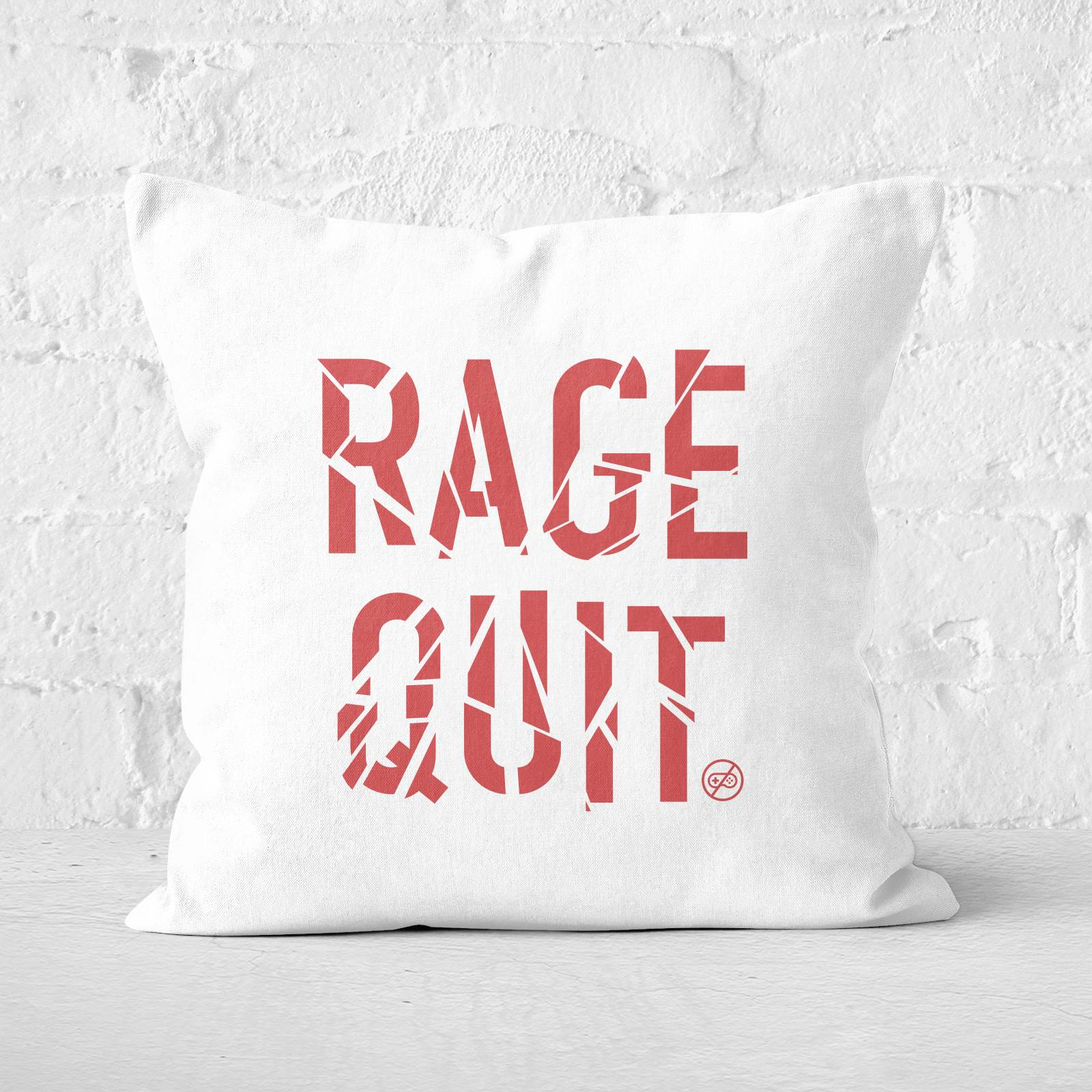 Gaming Rage Quit Square Cushion - 40x40cm - Soft Touch-