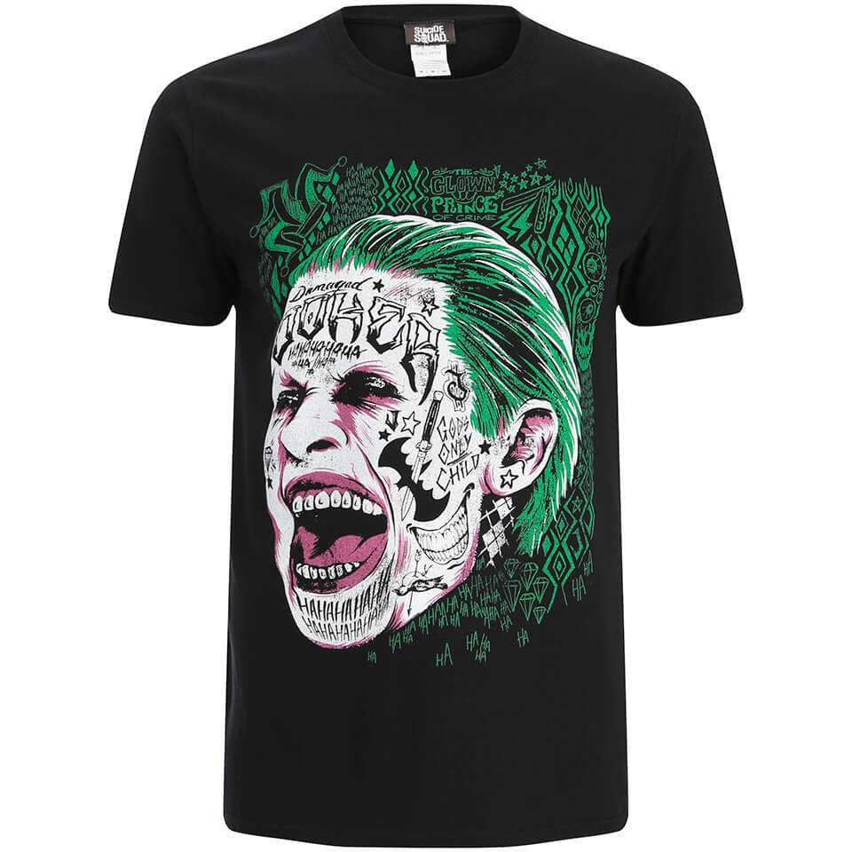 Geek Clothing DC Comics Men's Suicide Squad Joker Head T-Shirt - Black - S - Black