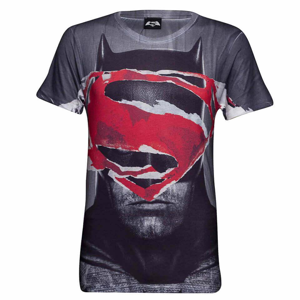 Geek Clothing DC Comics Men's Superman Tear T-Shirt - Grey - XXL - Grey