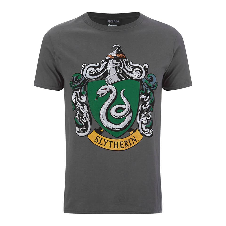 Geek Clothing Harry Potter Men's Slytherin Shield T-Shirt - Grey - S - Grey