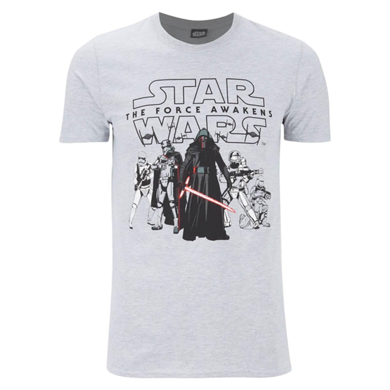 Geek Clothing Star Wars Men's The First Order T-Shirt - Grey - XXL - Grey