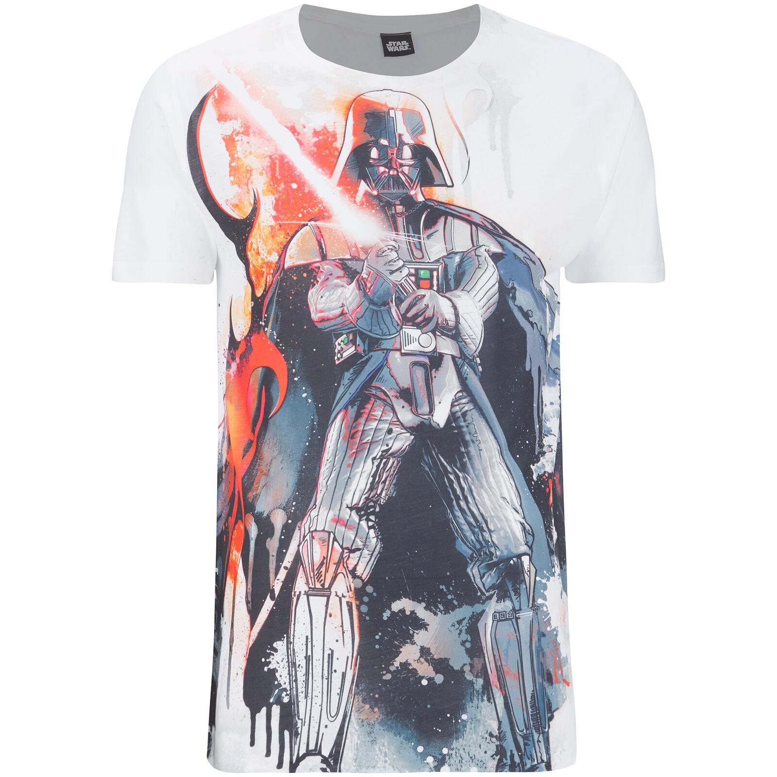 Geek Clothing Star Wars Men's Vader Stencil T-Shirt - White - M - White
