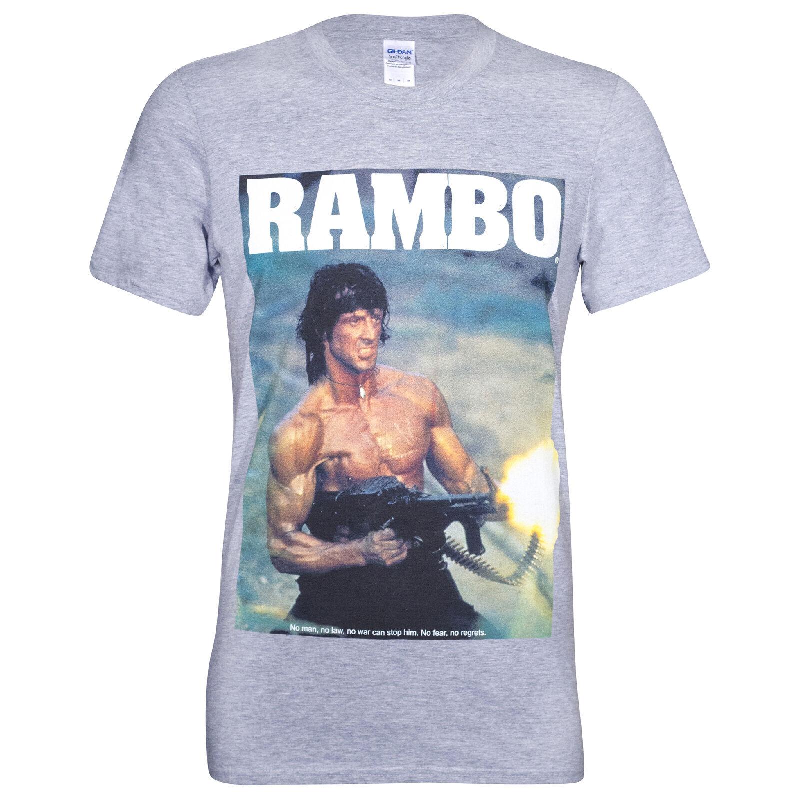 Geek Clothing Rambo Men's Gun T-Shirt - Grey - XXL - Grey