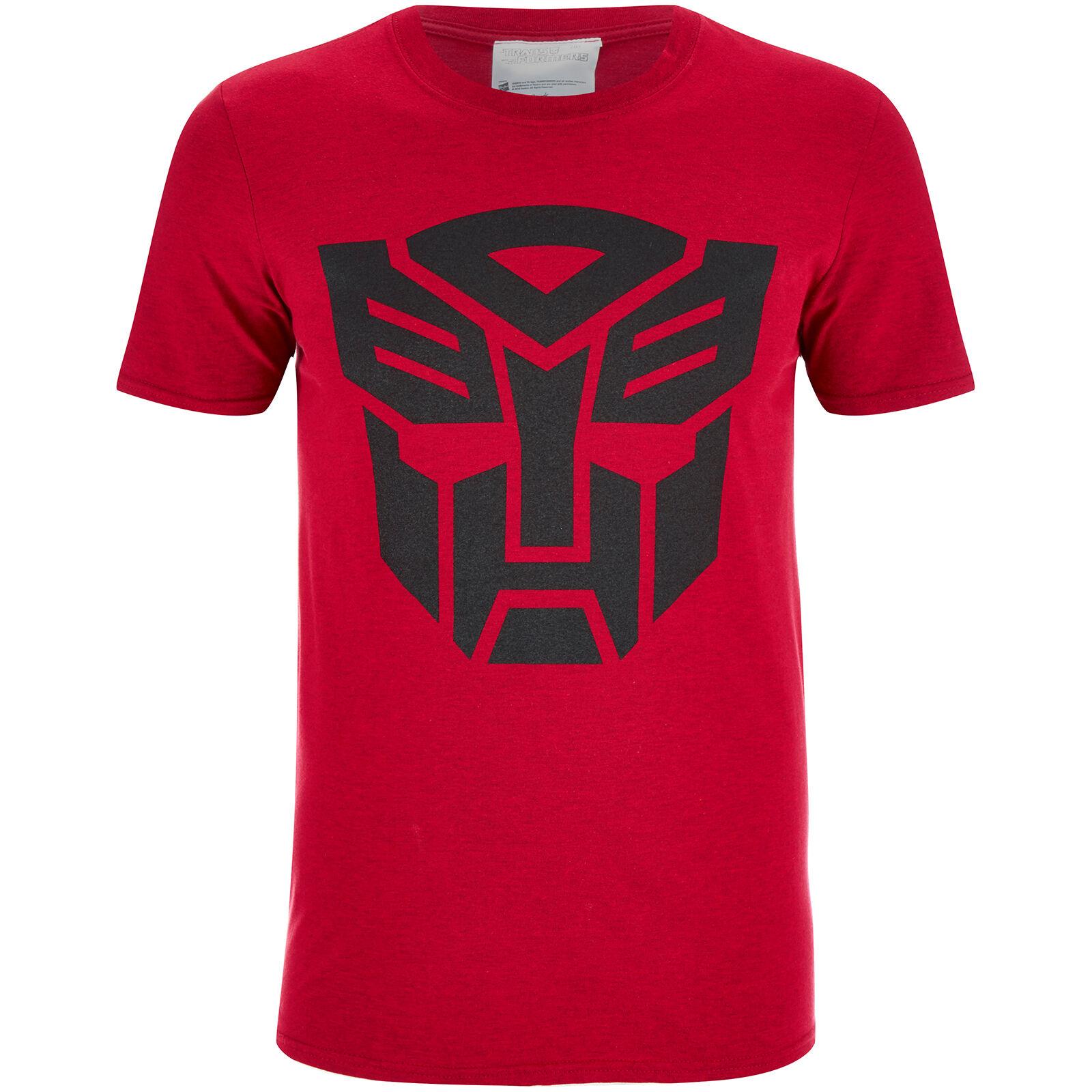 Geek Clothing Transformers Men's Transformers Black Emblem T-Shirt - Red - XL - Red