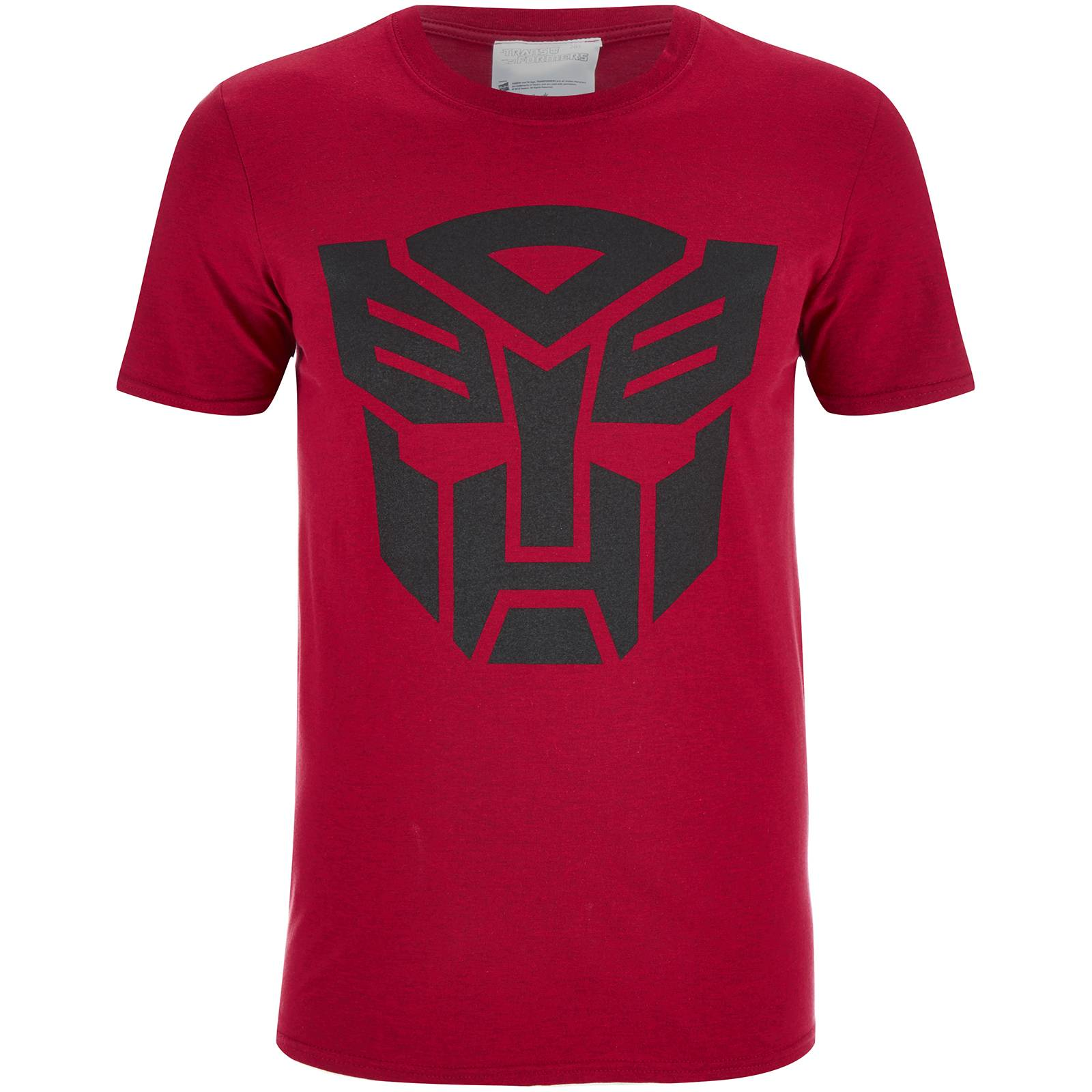 Geek Clothing Transformers Men's Transformers Black Emblem T-Shirt - Red - S - Red