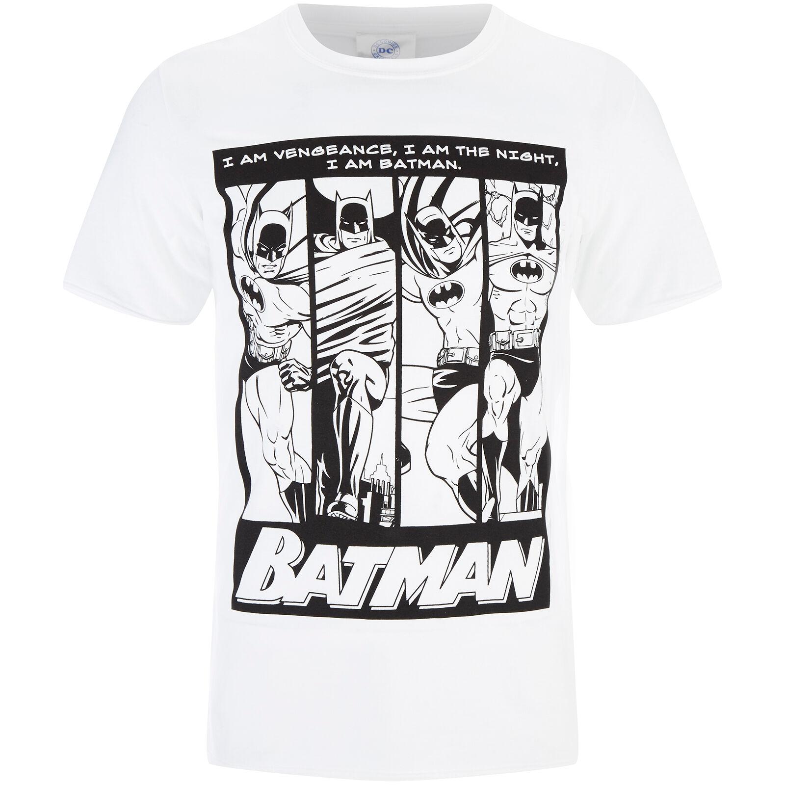 Geek Clothing DC Comics Men's Batman I am Batman T-Shirt - White - L - White