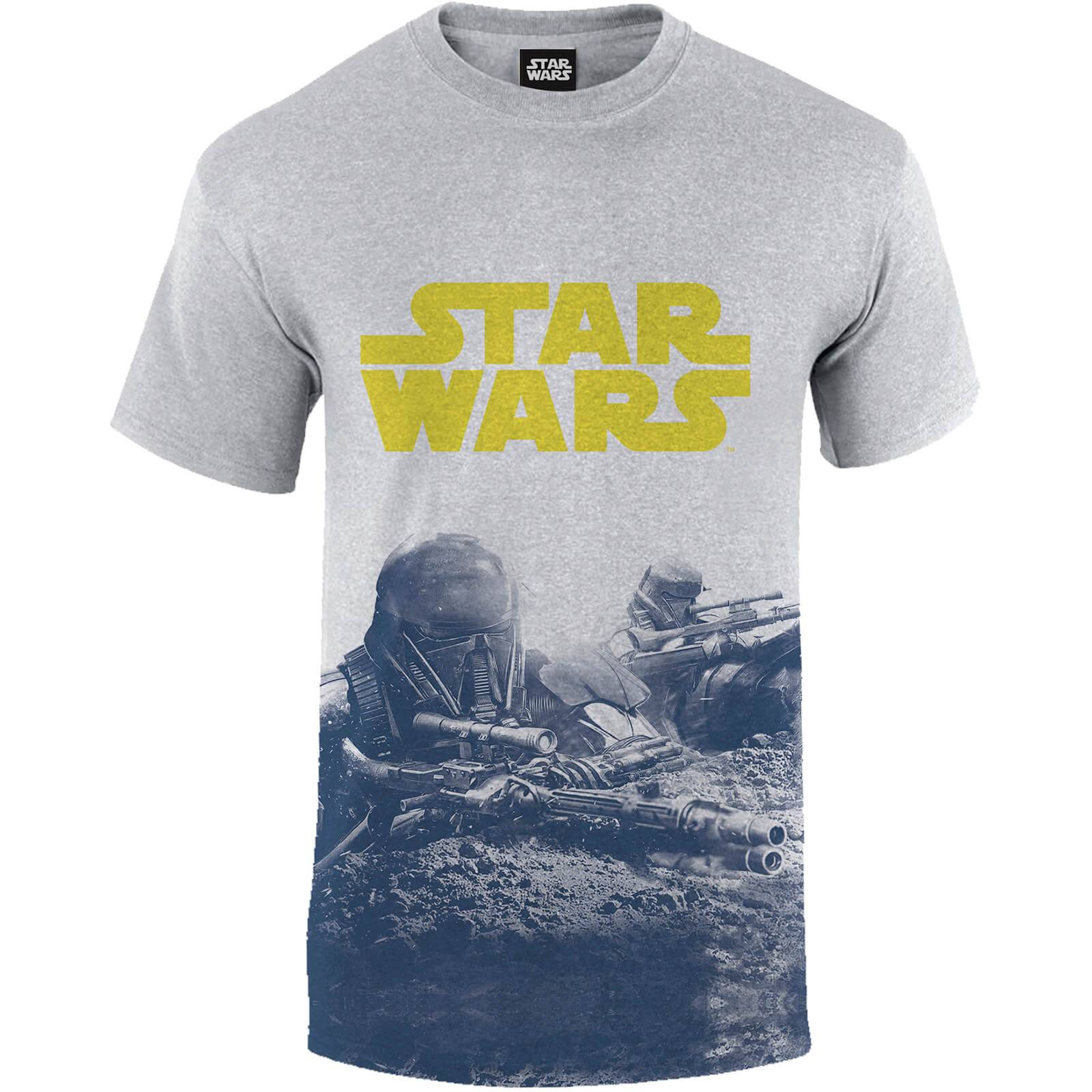 Geek Clothing Star Wars Rogue One Men's Blue Death Trooper Print T-Shirt - Grey - XXL - Grey
