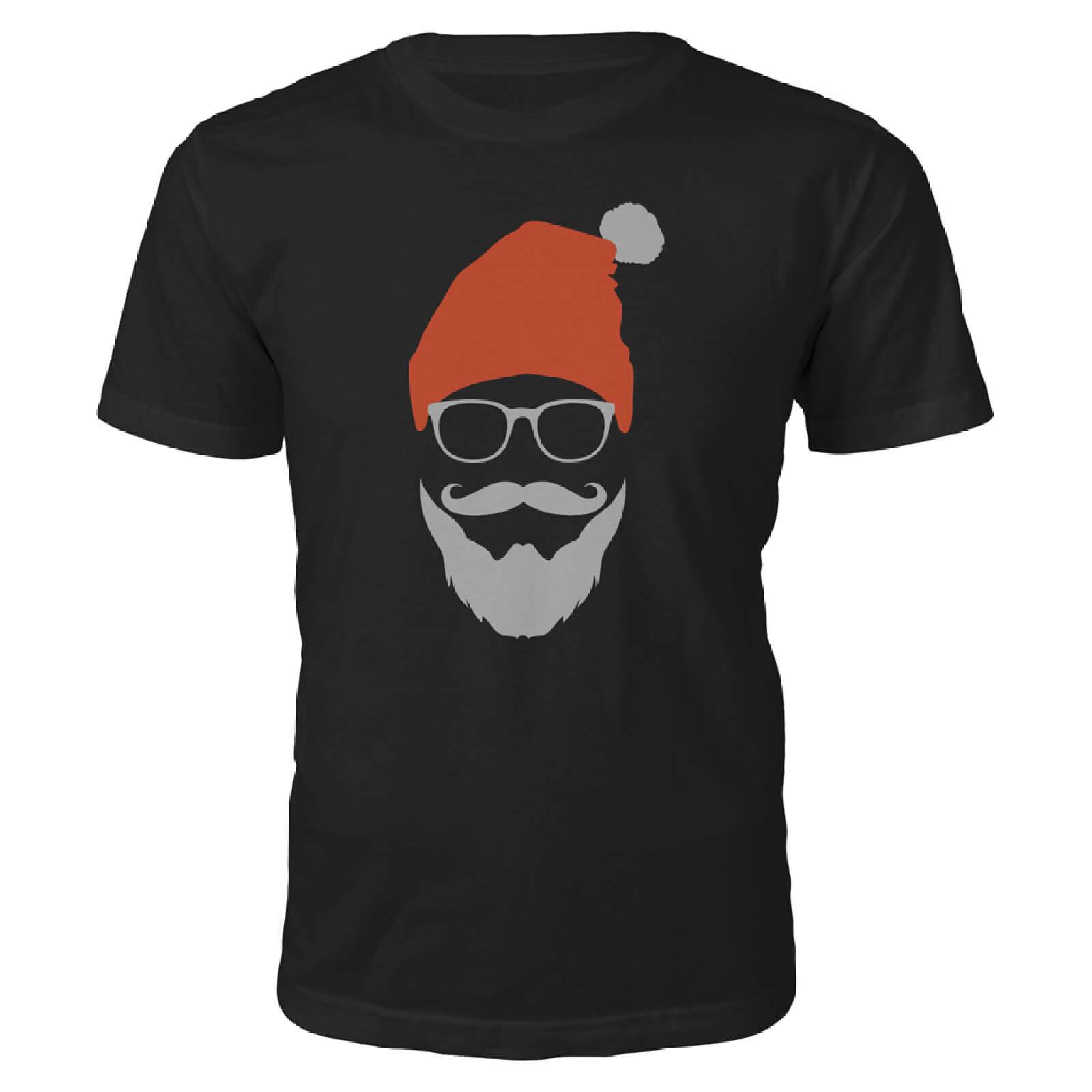 The Christmas Collection Cool Santa Christmas T-Shirt - Black - M - Black