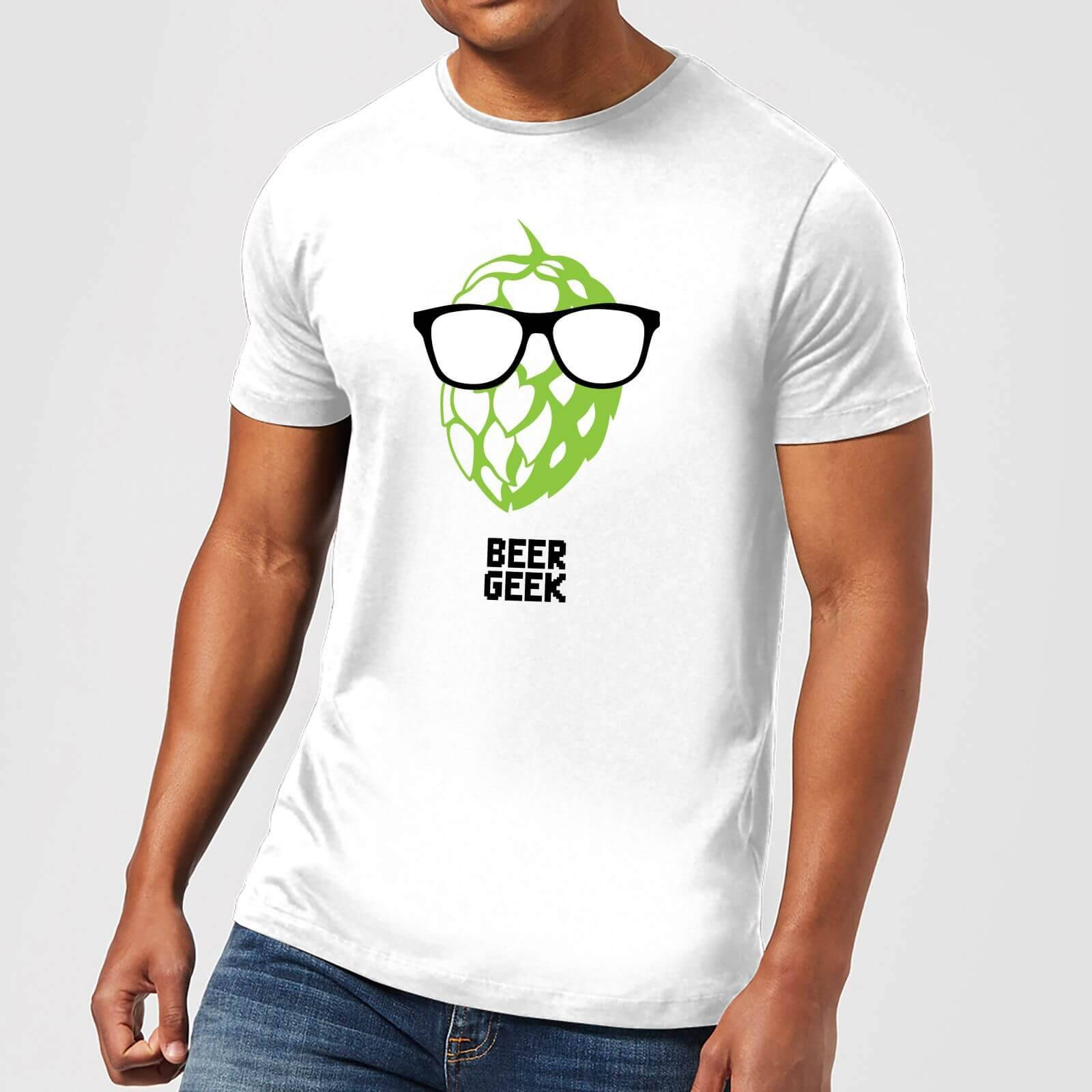 Beershield Beer Geek Men's T-Shirt - L - White