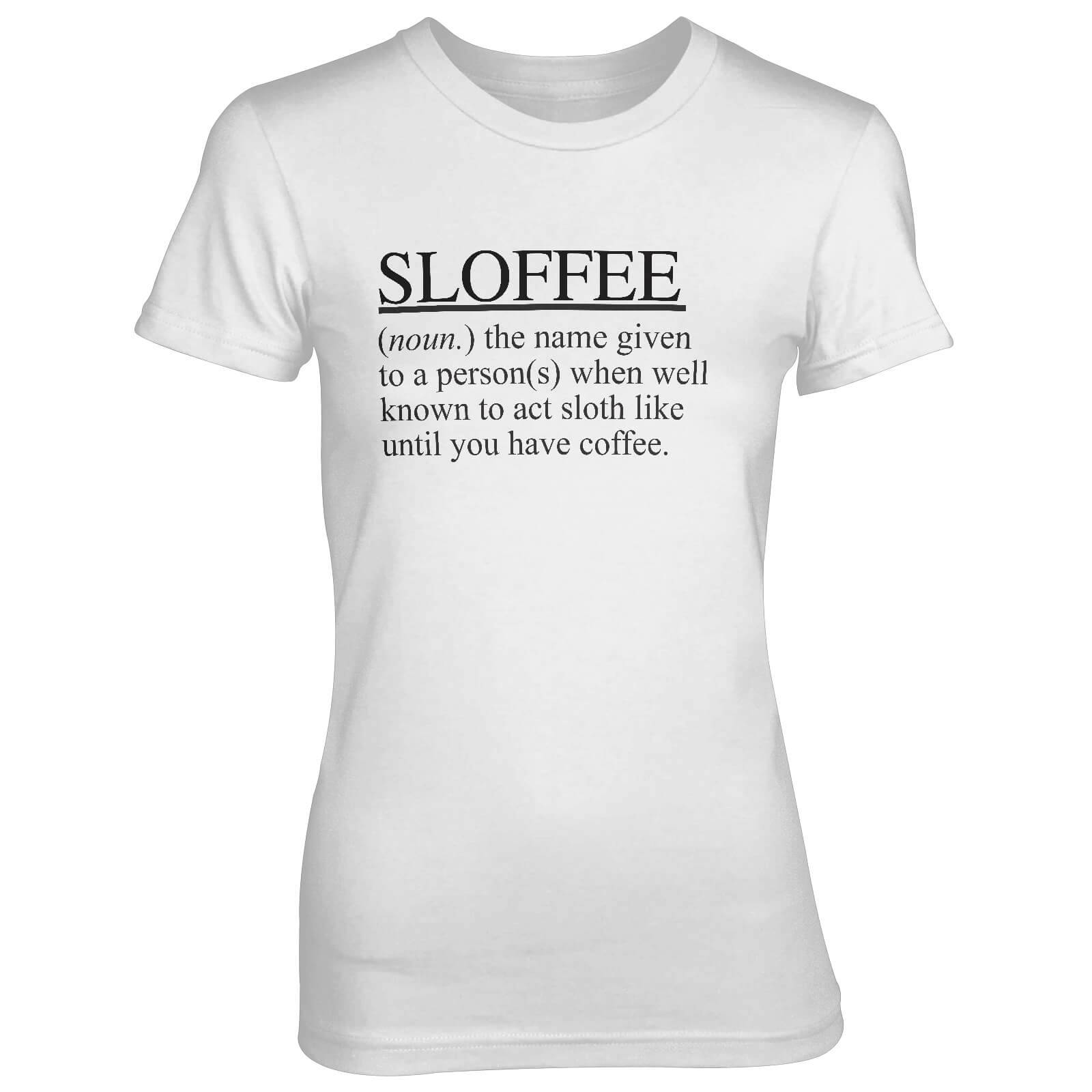 T-Junkie Sloffee Women's White T-Shirt - XXL - White