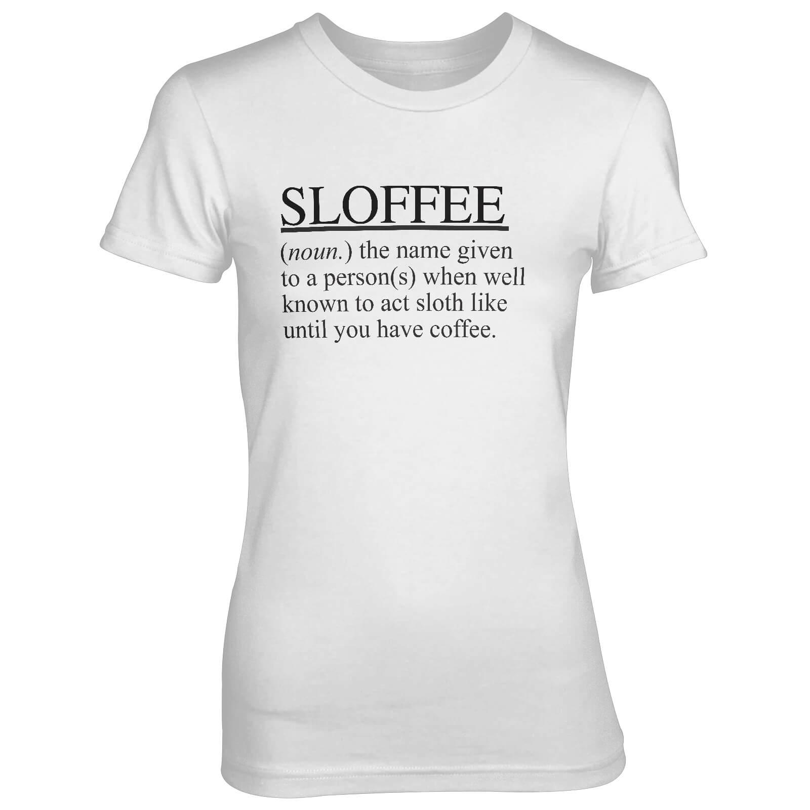 T-Junkie Sloffee Women's White T-Shirt - XL - White