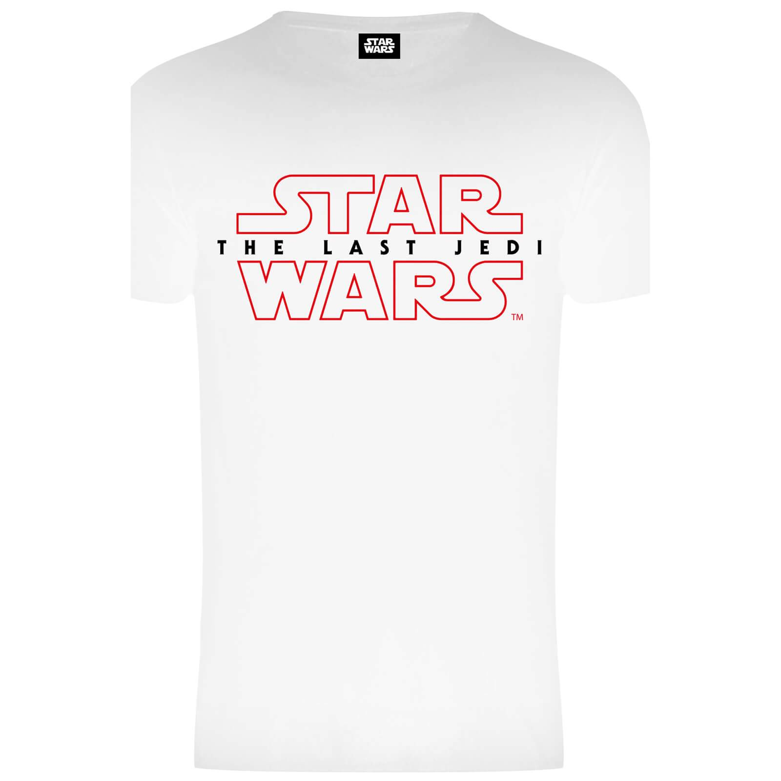 Geek Clothing Star Wars Men's The Last Jedi Stencil Logo T-Shirt - White - XXL - White