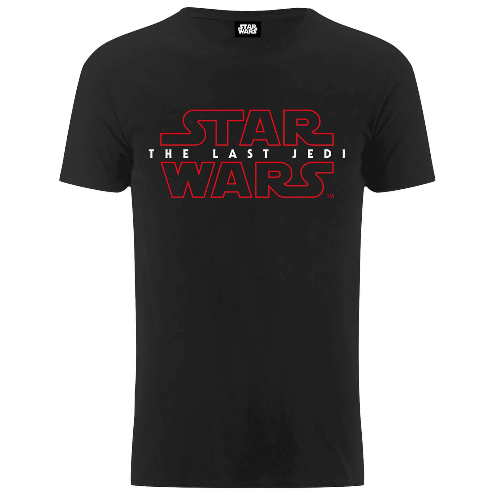 Geek Clothing Star Wars Men's The Last Jedi Stencil Logo T-Shirt - Black - M - Black