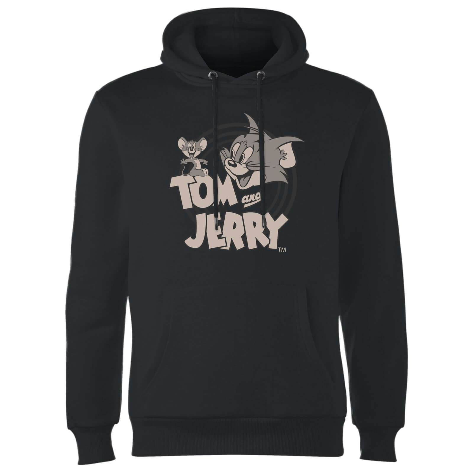 Tom & Jerry Circle Hoodie - Black - S - Black-male