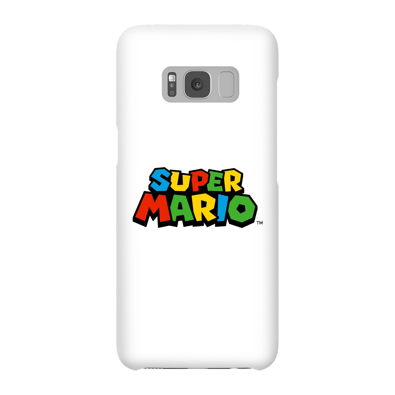 Nintendo Super Mario Colour Logo Phone Case - Samsung S8 - Snap Case - Matte-male