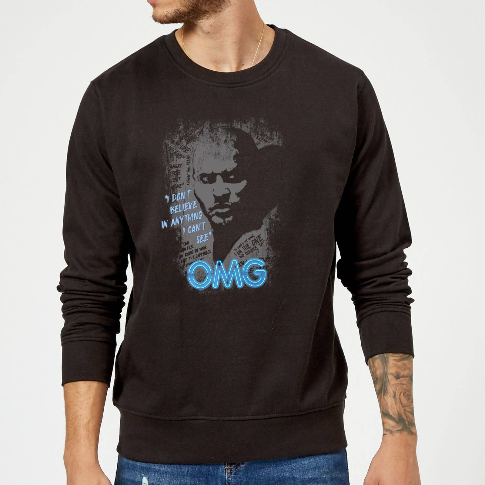 American Gods Shadow OMG Sweatshirt - Black - XXL - Black-male