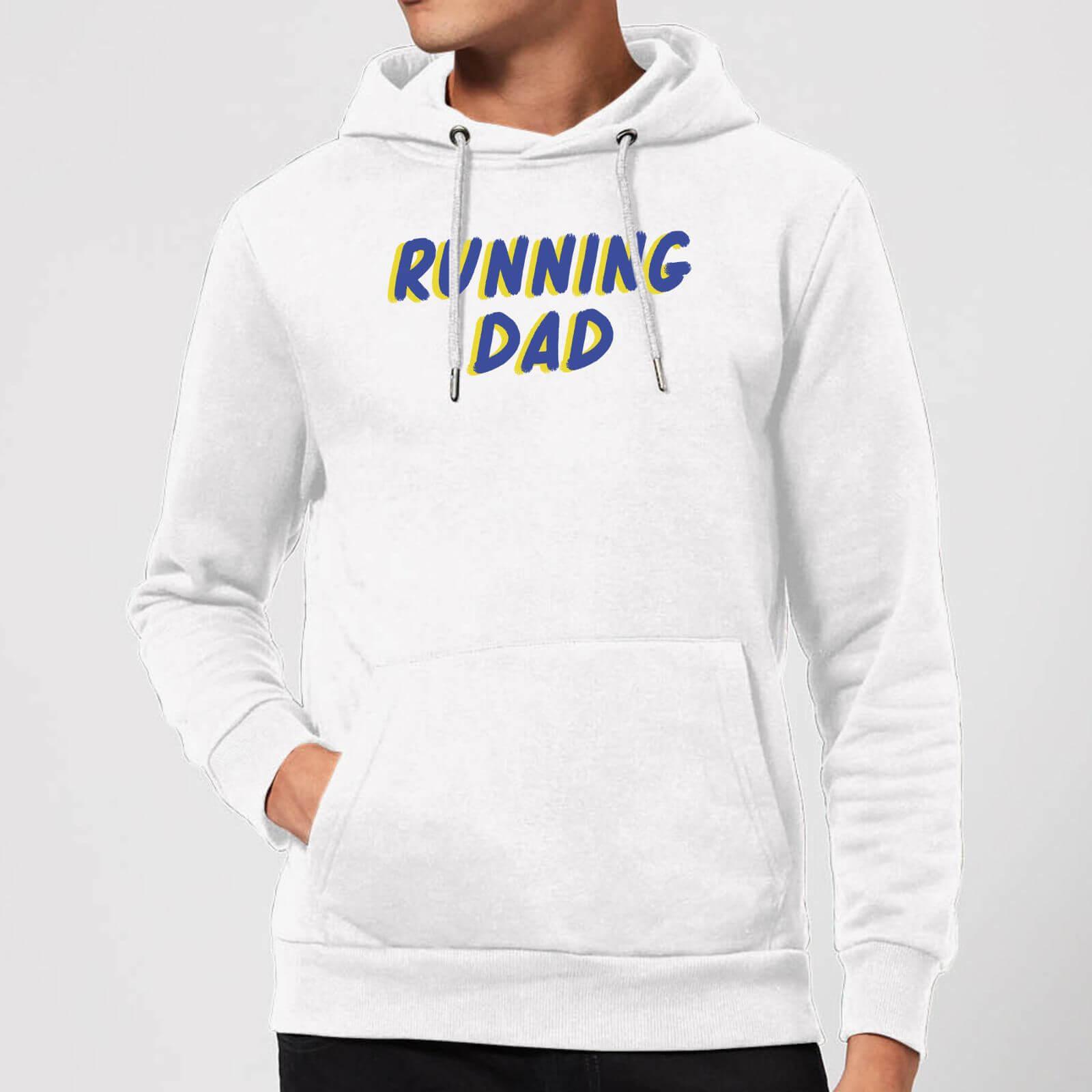 IWOOT Running Dad Hoodie - White - XL - White-male