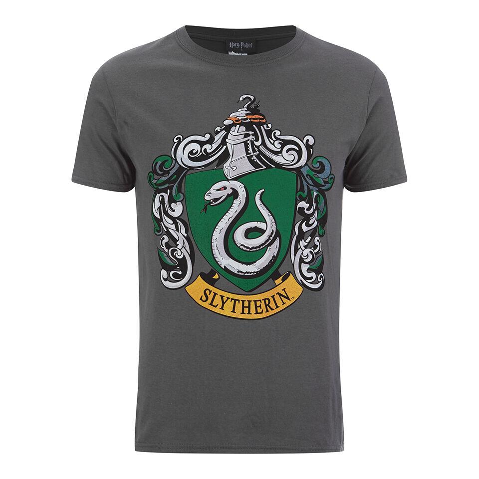 Geek Clothing Harry Potter Men's Slytherin Shield T-Shirt - Grey - L - Grey