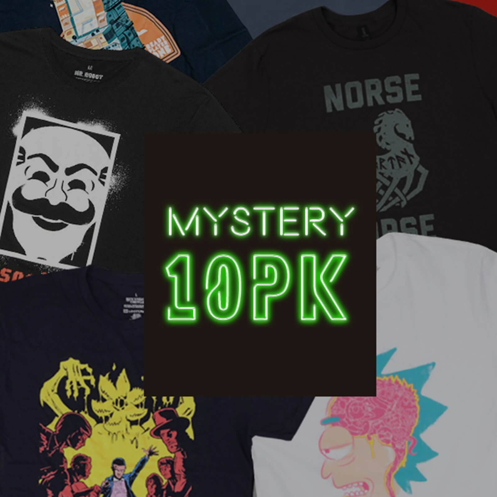 Mystery Geek Collection Mystery Geek T-Shirt - 10-Pack - Men's - L-unisex