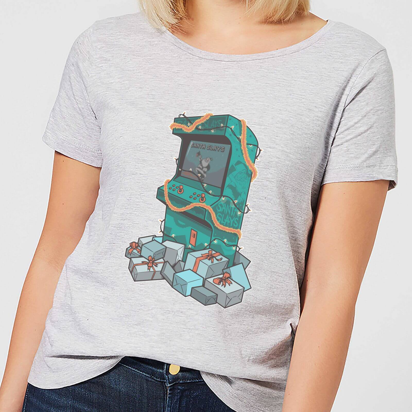 Geek Christmas Arcade Tress Women's T-Shirt - Grey - XL - Grey