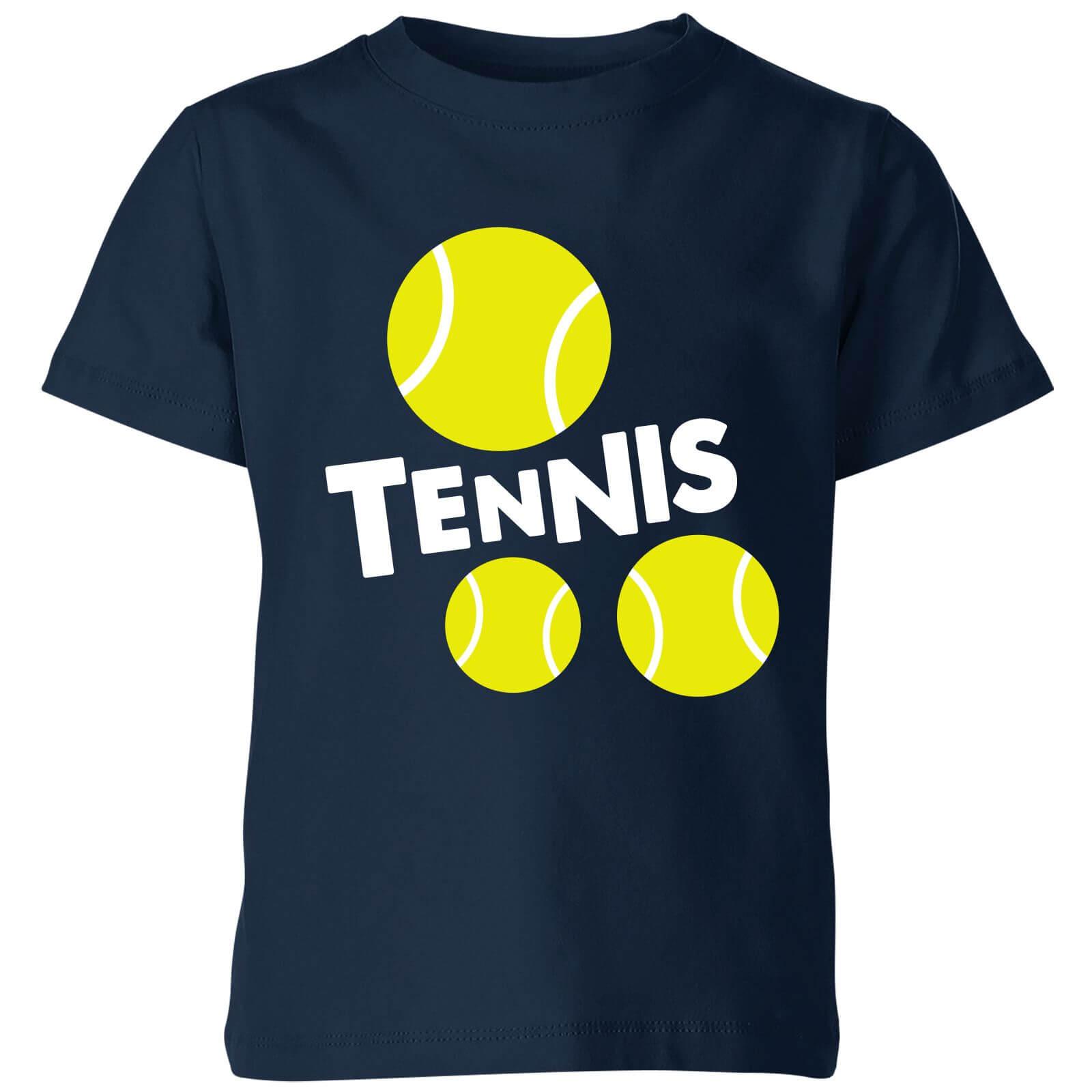 The Tennis Collection Tennis Balls Kids' T-Shirt - Navy - 7-8 Years - Navy-unisex