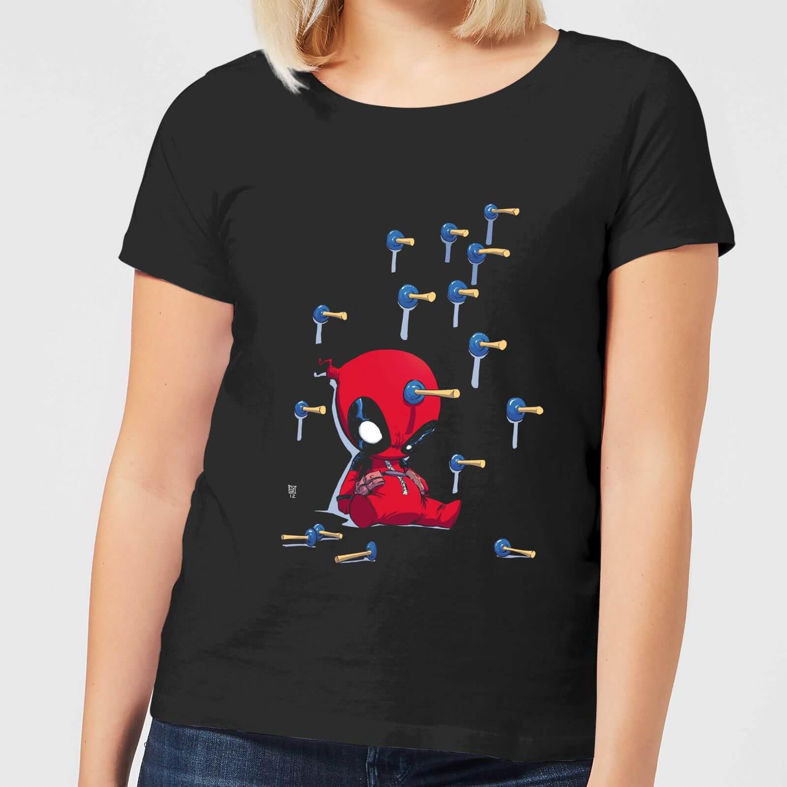 Marvel Deadpool Cartoon Knockout Women's T-Shirt - Black - 4XL - Black
