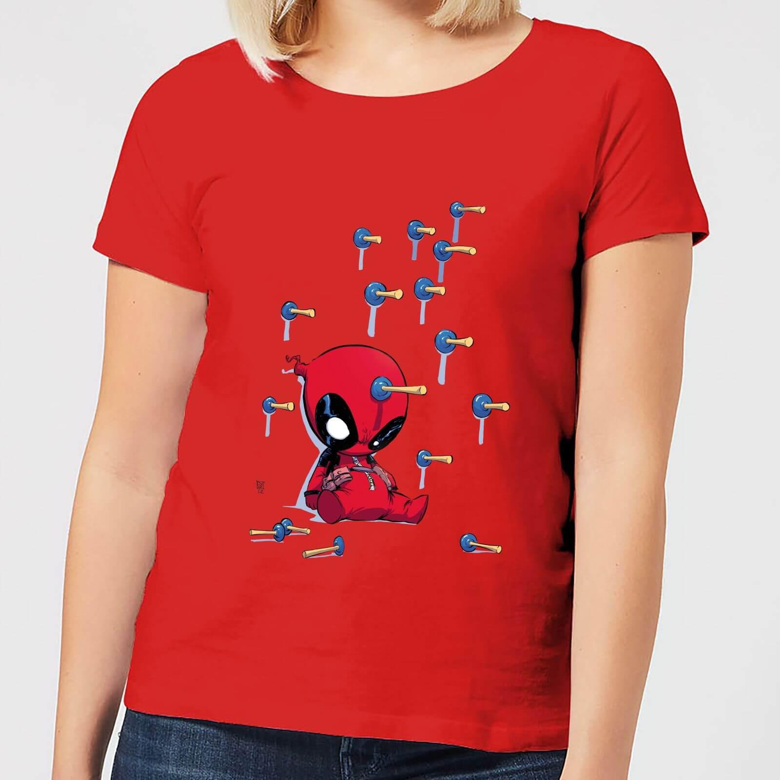 Marvel Deadpool Cartoon Knockout Women's T-Shirt - Red - M - Red