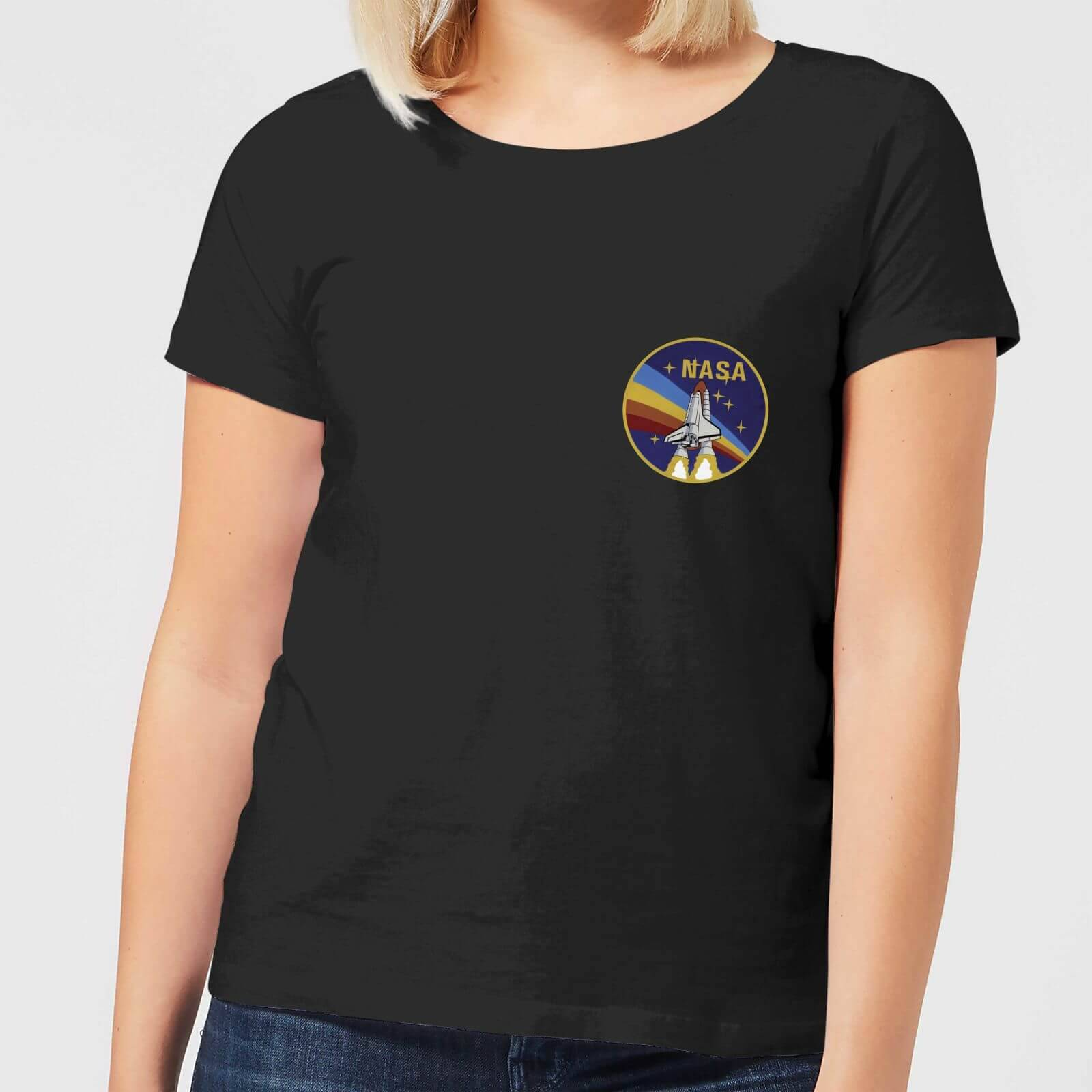 NASA Vintage Rainbow Shuttle Women's T-Shirt - Black - XS - Black