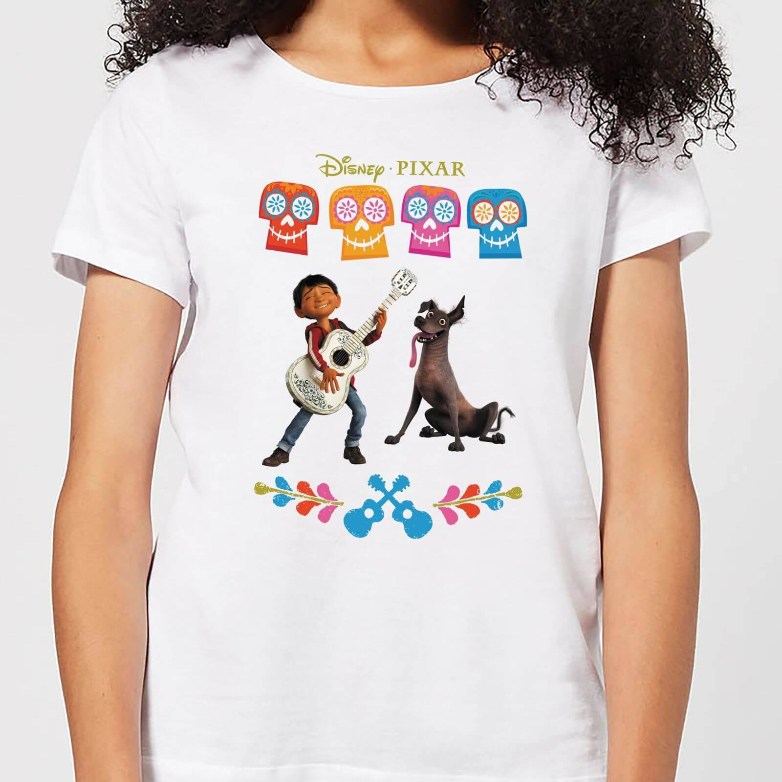Disney Coco Miguel Logo Women's T-Shirt - White - XS - White