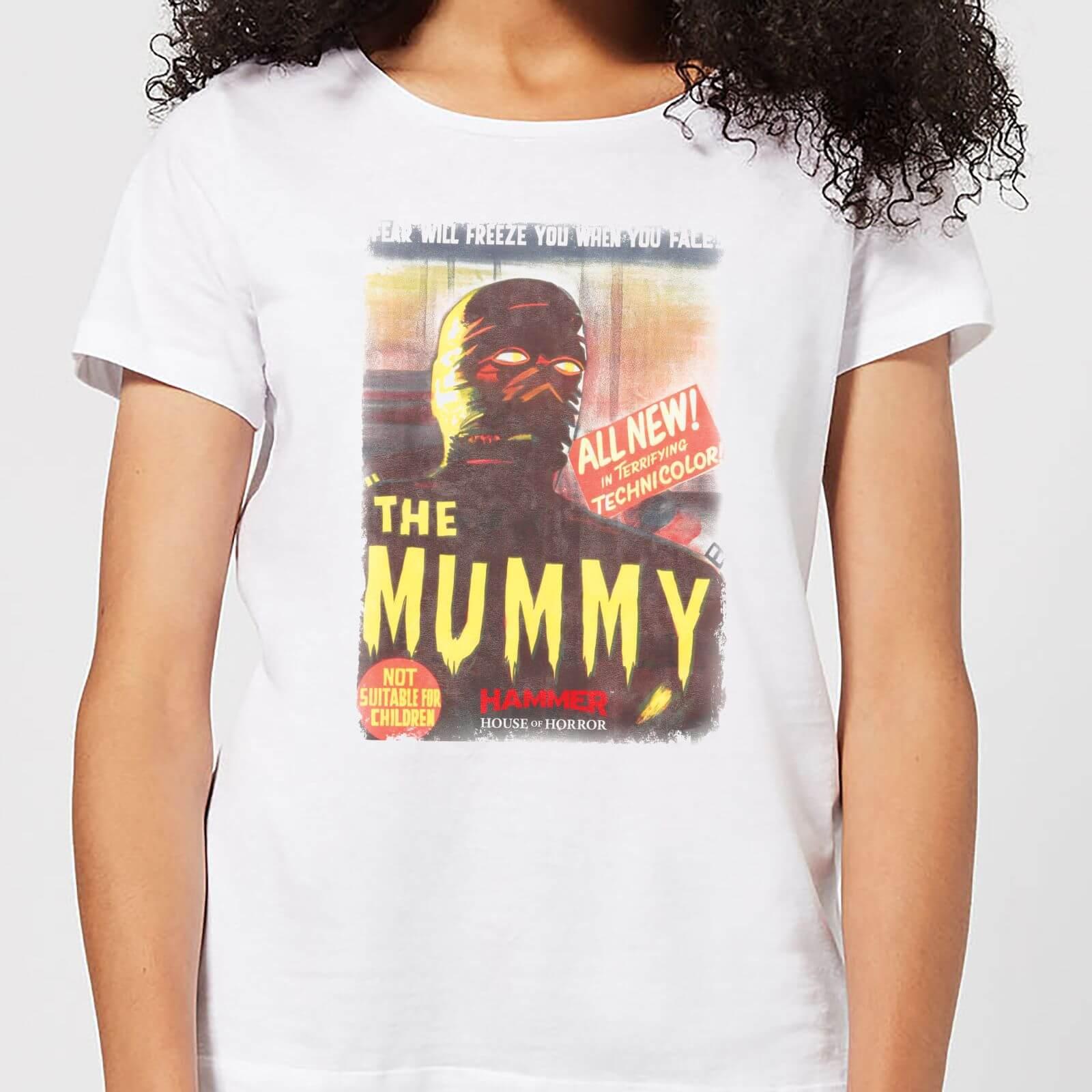Hammer Horror The Mummy Women's T-Shirt - White - 4XL - White