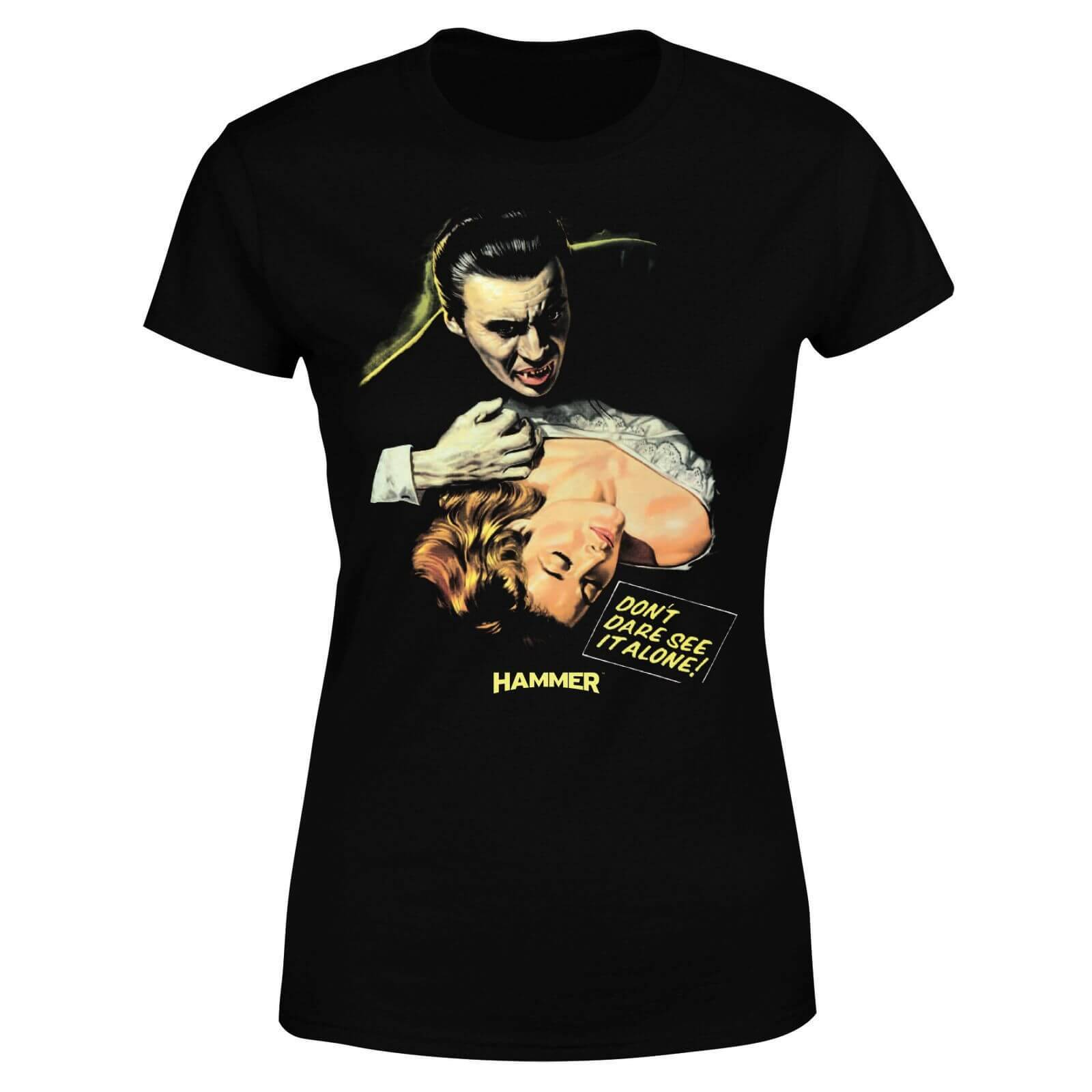 Hammer Horror Dracula Don't Dare See It Alone Women's T-Shirt - Black - XL - Black