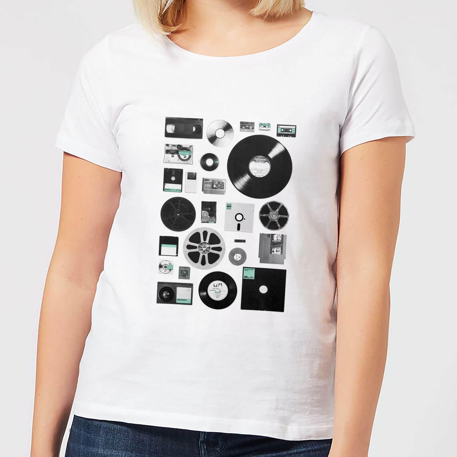 Florent Bodart Data Women's T-Shirt - White - 5XL - White