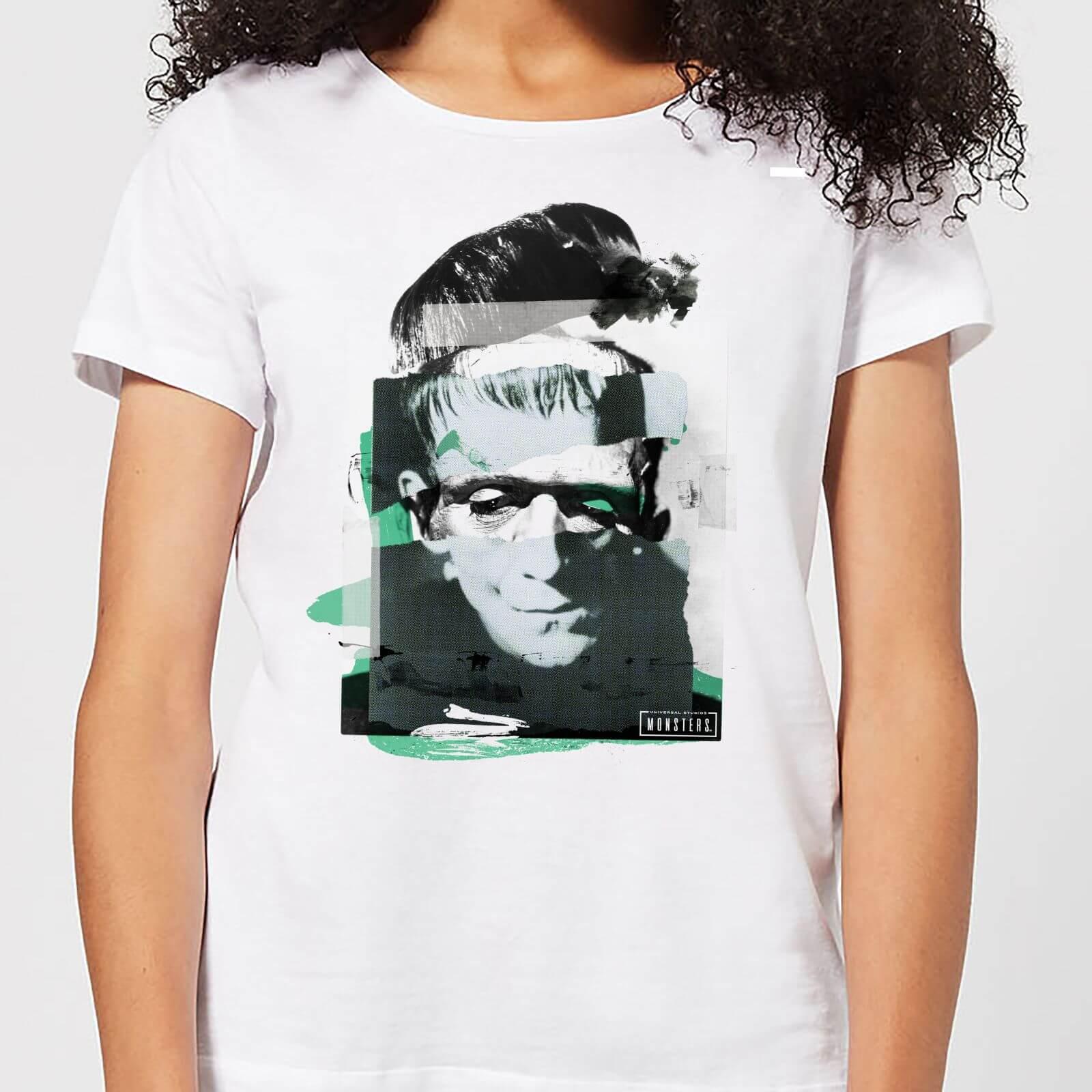 Universal Monsters Frankenstein Collage Women's T-Shirt - White - XL - White