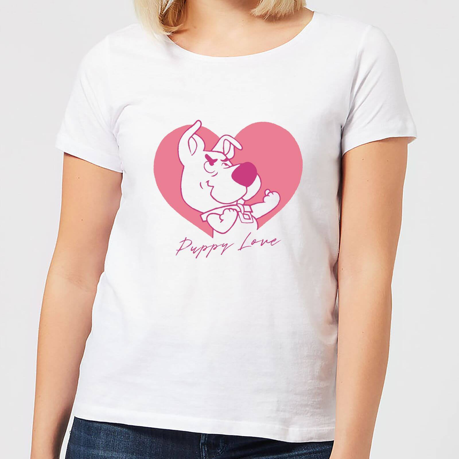 Scooby Doo Puppy Love Women's T-Shirt - White - 4XL - White