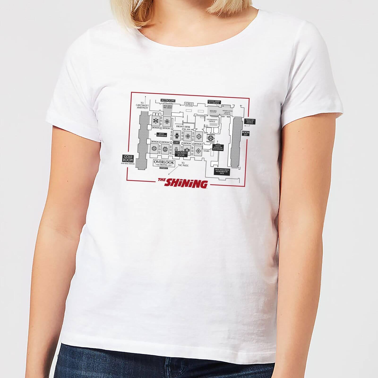 The Shining Floor Plan Women's T-Shirt - White - S - White-female