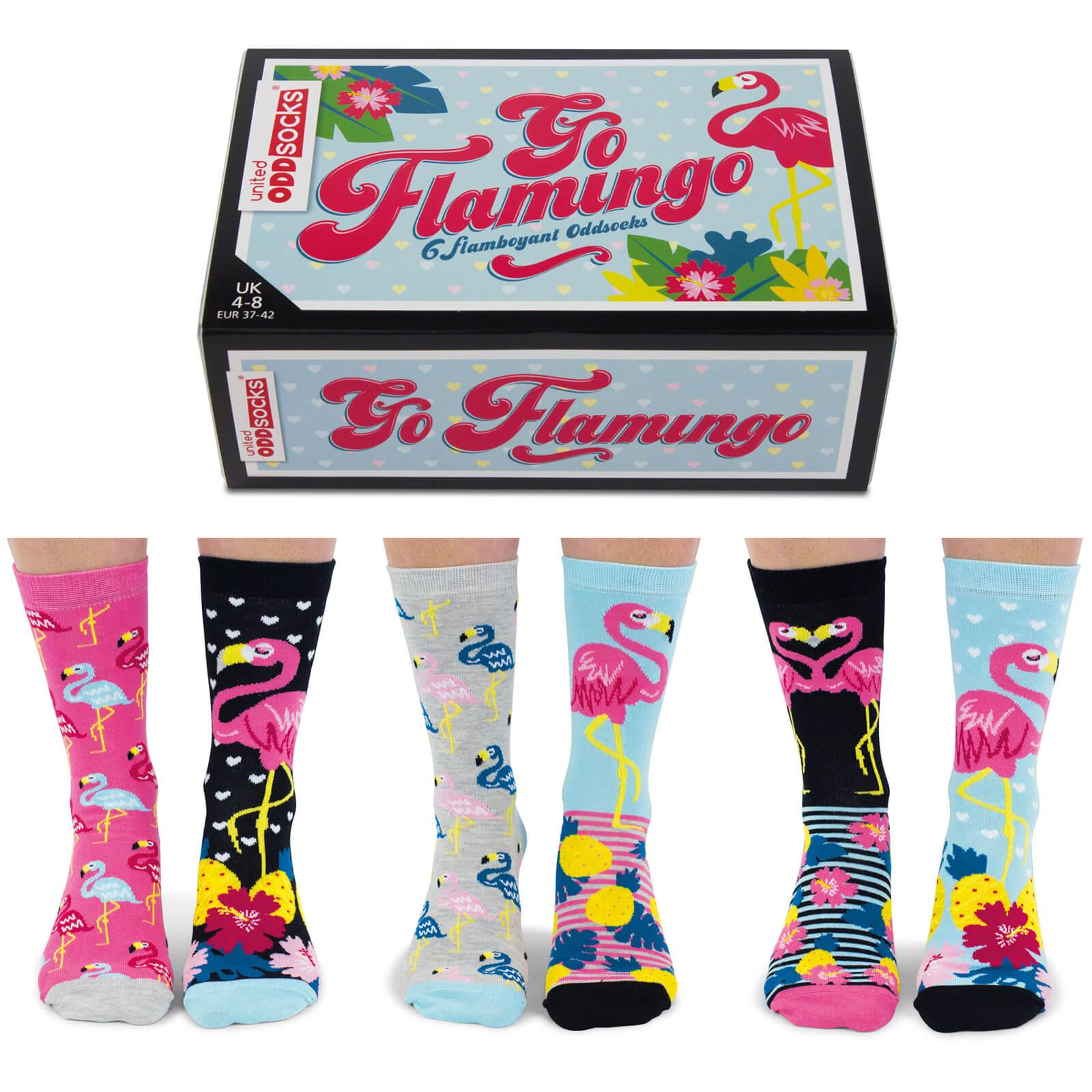 United Oddsocks Women's Go Flamingo Socks Gift Set-female