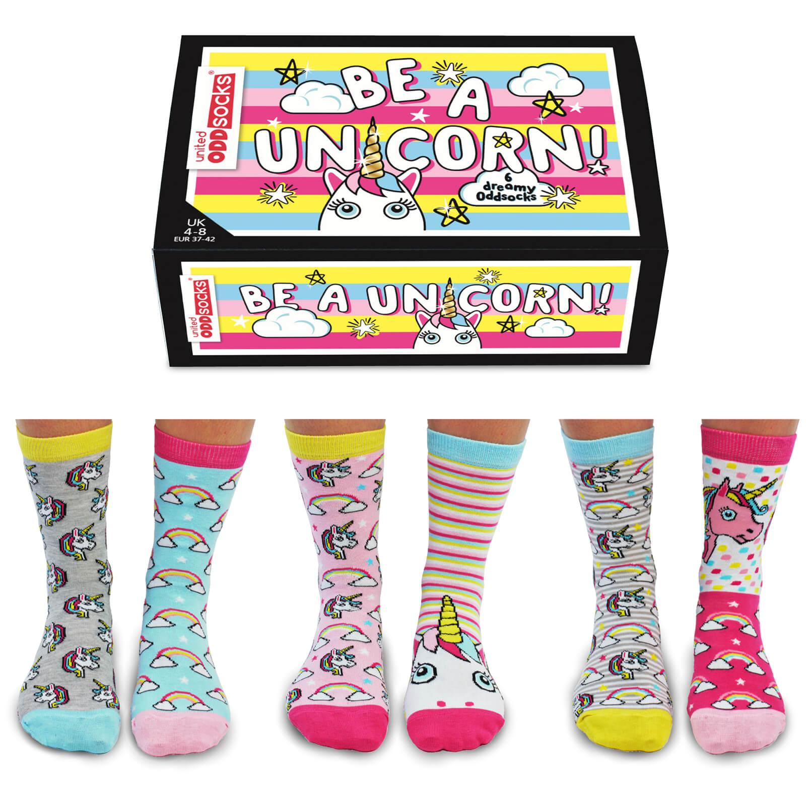 United Oddsocks Women's Be a Unicorn Socks Gift Set-female