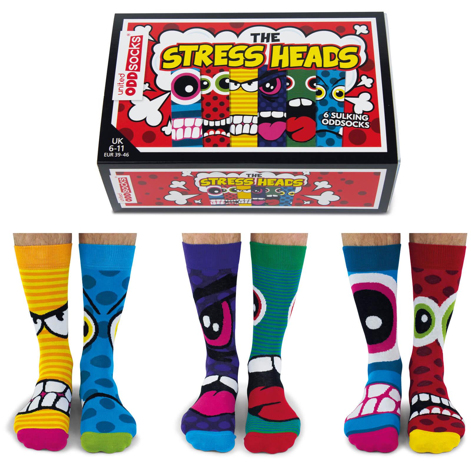United Oddsocks Men's The Stressheads Socks Gift Set-male
