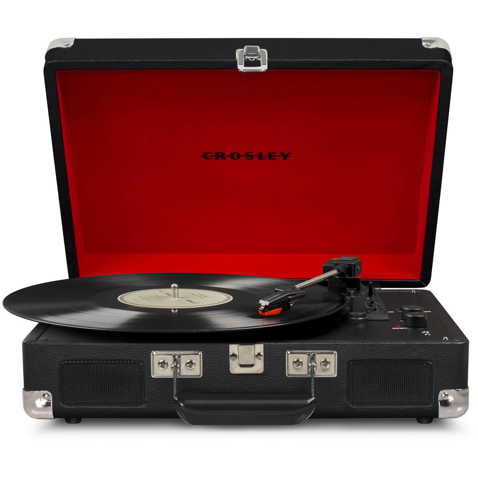 Crosley Cruiser Deluxe Portable Turntable (Black)-