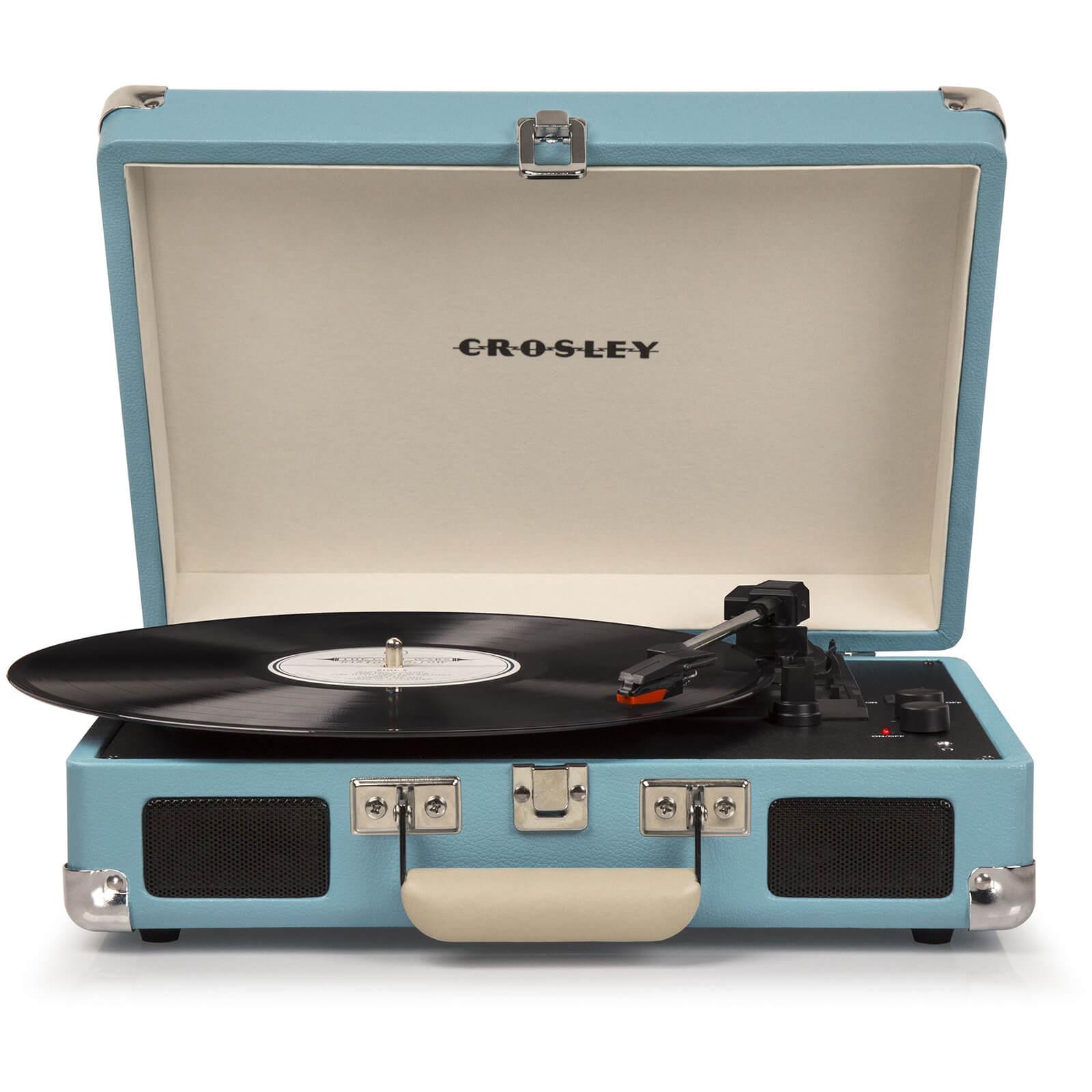 Crosley Cruiser Deluxe Portable Turntable (Turquoise)-