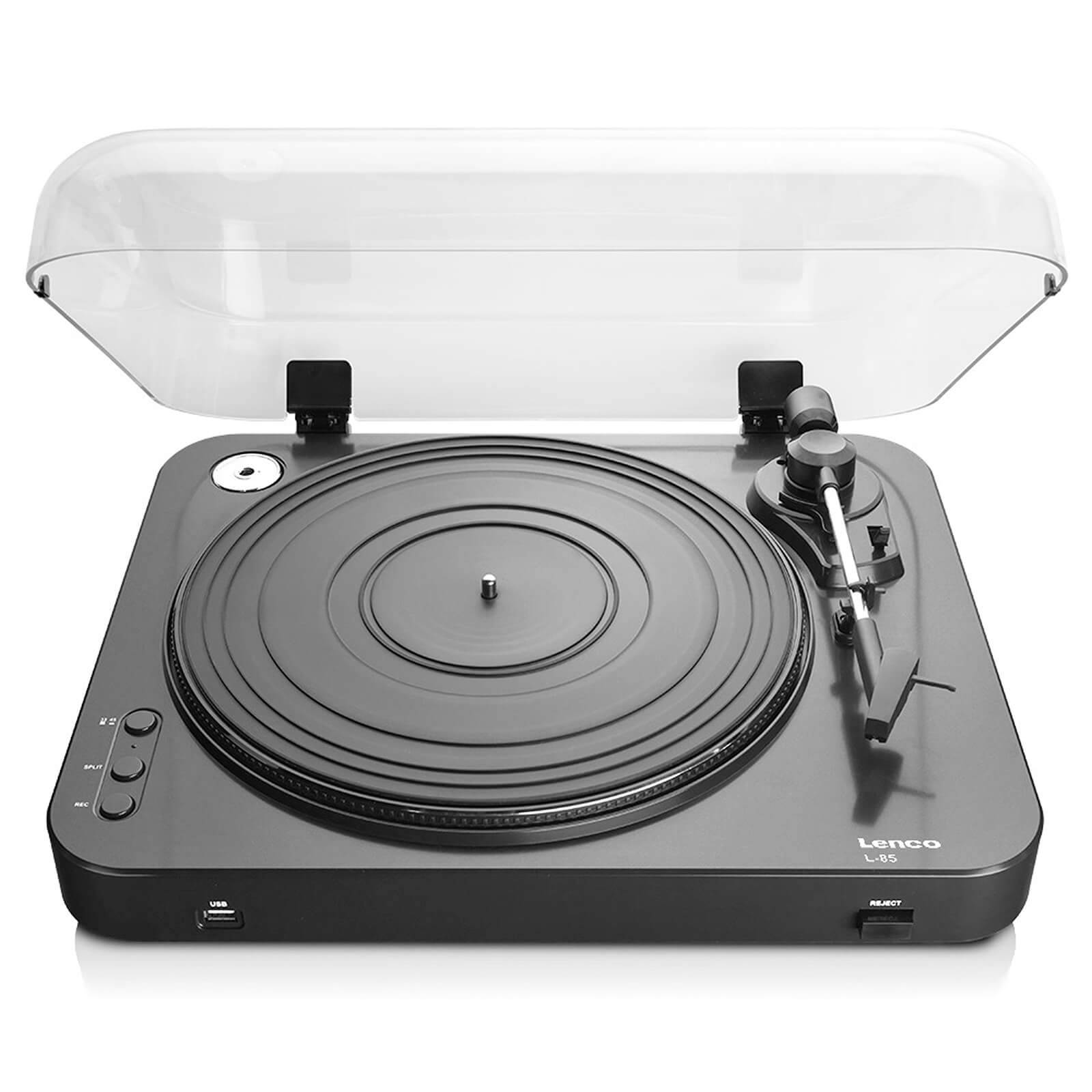 Lenco L-85 USB Turntable with Direct Recording - Black-