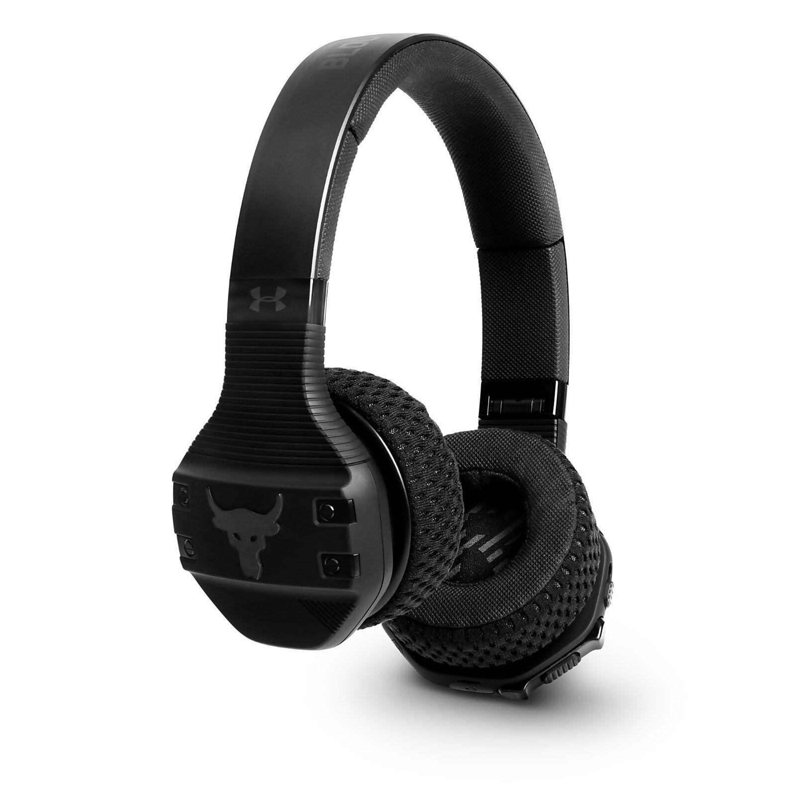 JBL UA Sport Wireless Train Project Rock – Engineered by JBL - Black On Ear headphones-