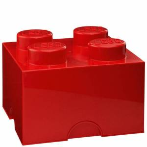 Room Copenhagen LEGO Storage Brick 4 - Red-unisex