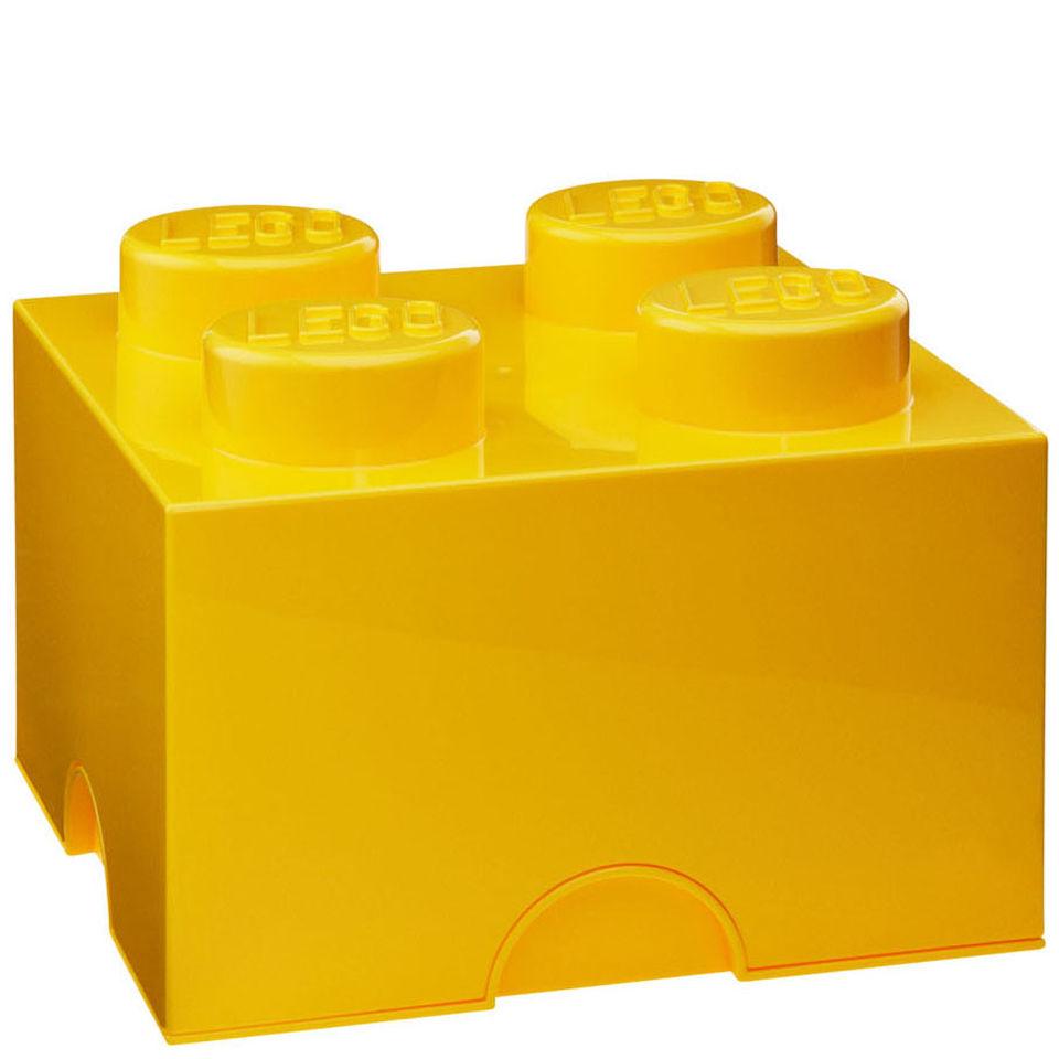 Lego Storage Brick 4 - Yellow-unisex