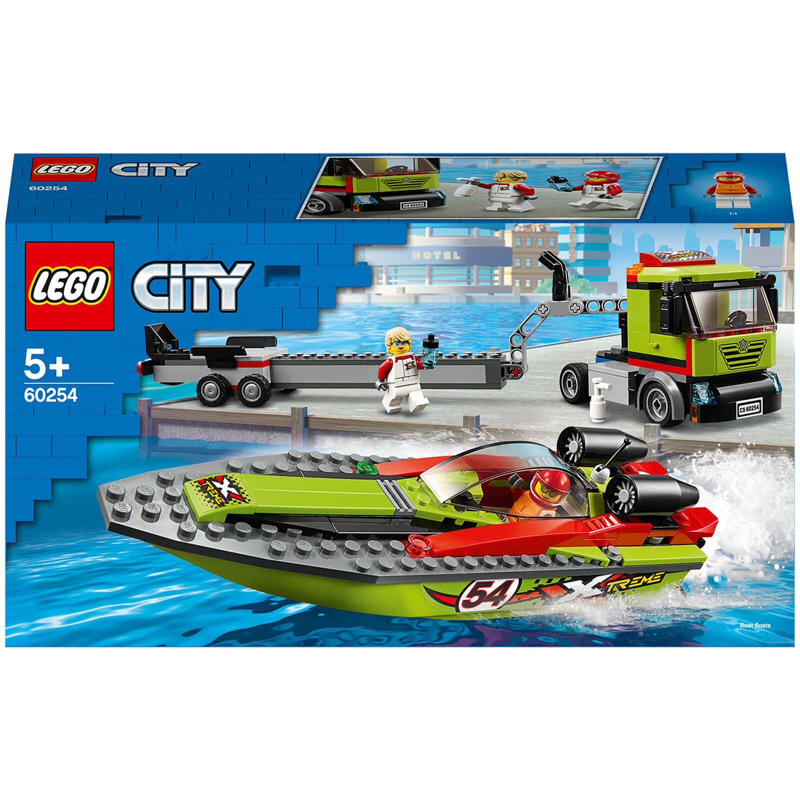 Lego City: Great Vehicles Race Boat Transporter Set (60254)-unisex