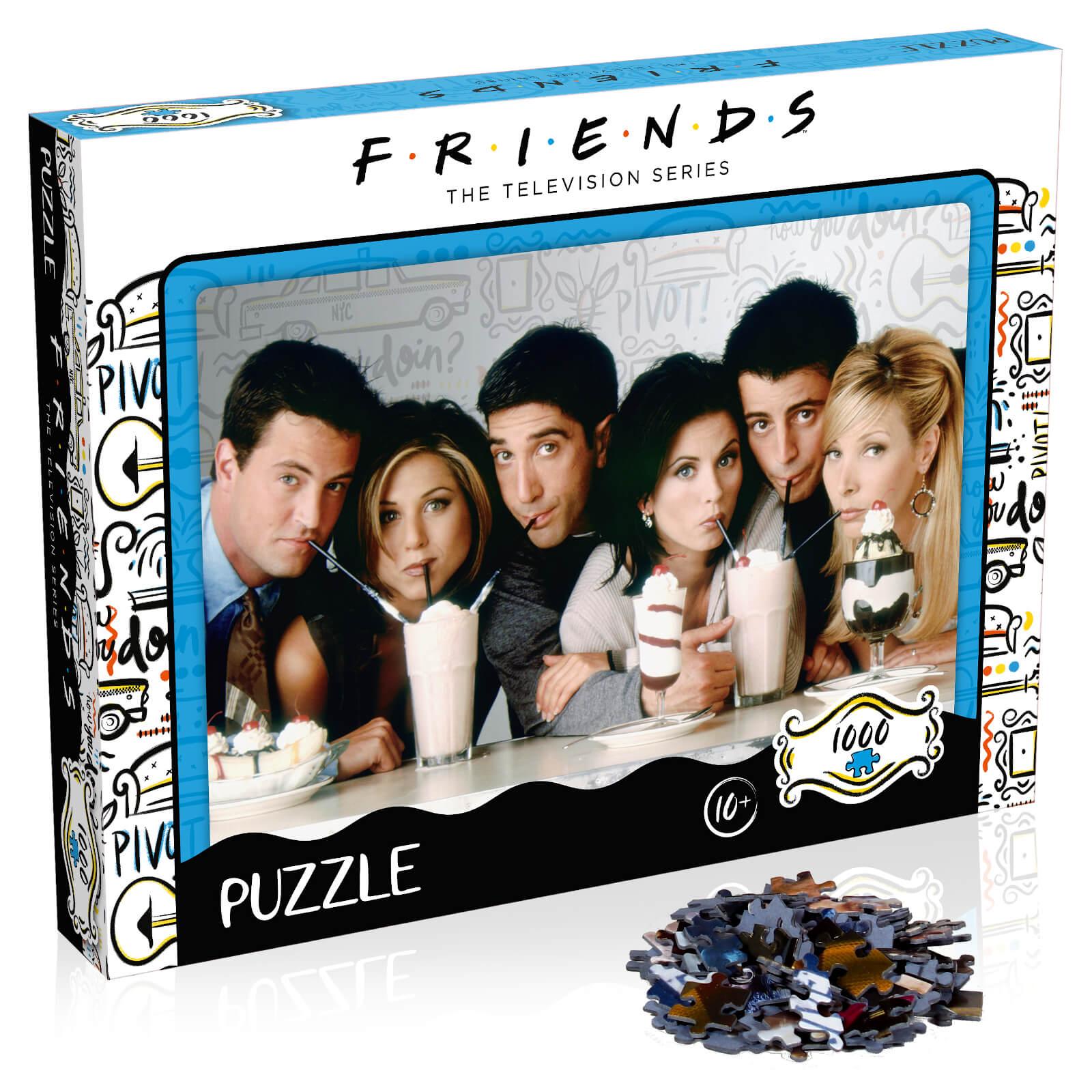 Winning Moves 1000 Piece Jigsaw Puzzle - Friends Milkshake Edition-unisex